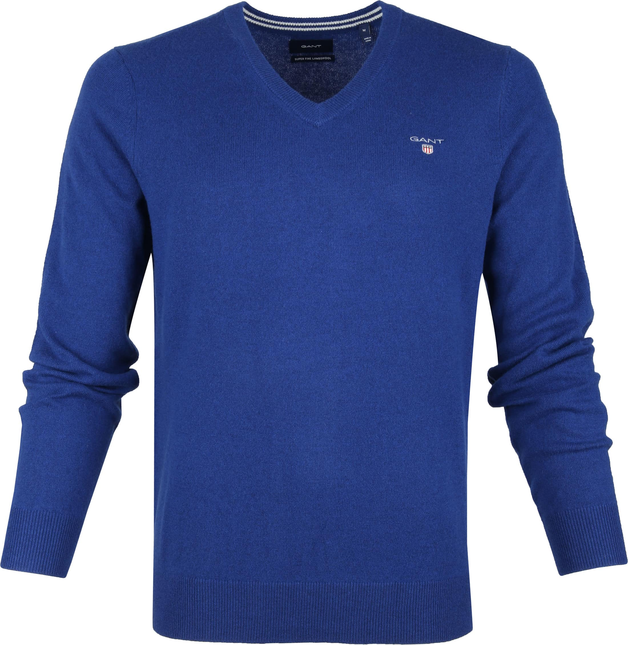 Gant Lamswol Pullover Blauw