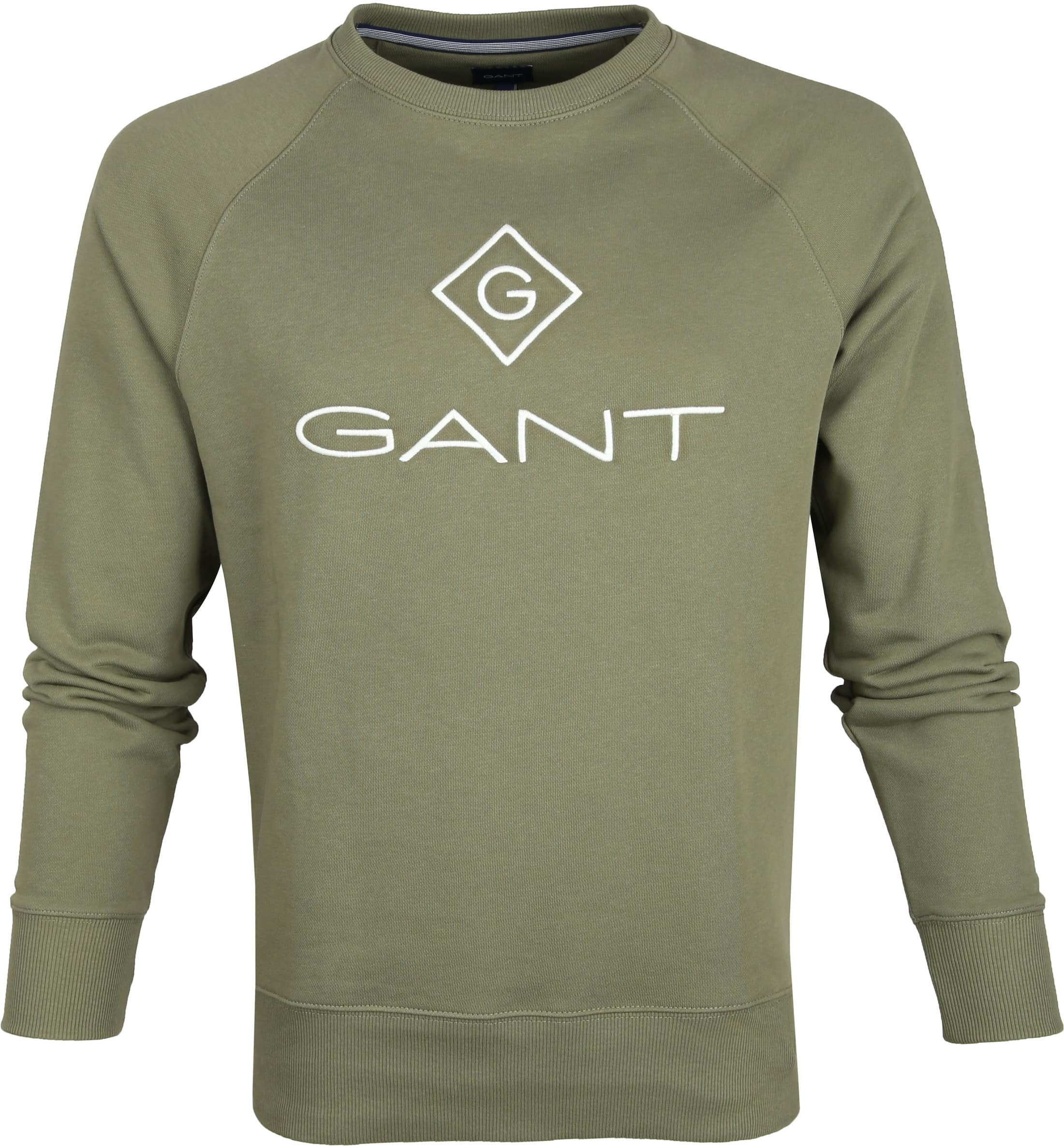 Gant Lock Up Sweater Donkergroen