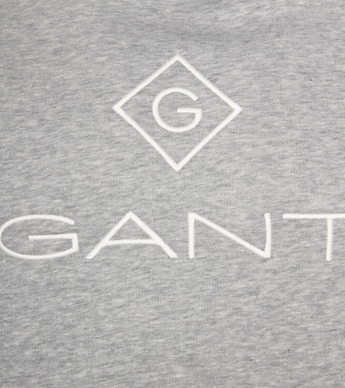 Gant Logo Hoodie Lichtgrijs foto 2