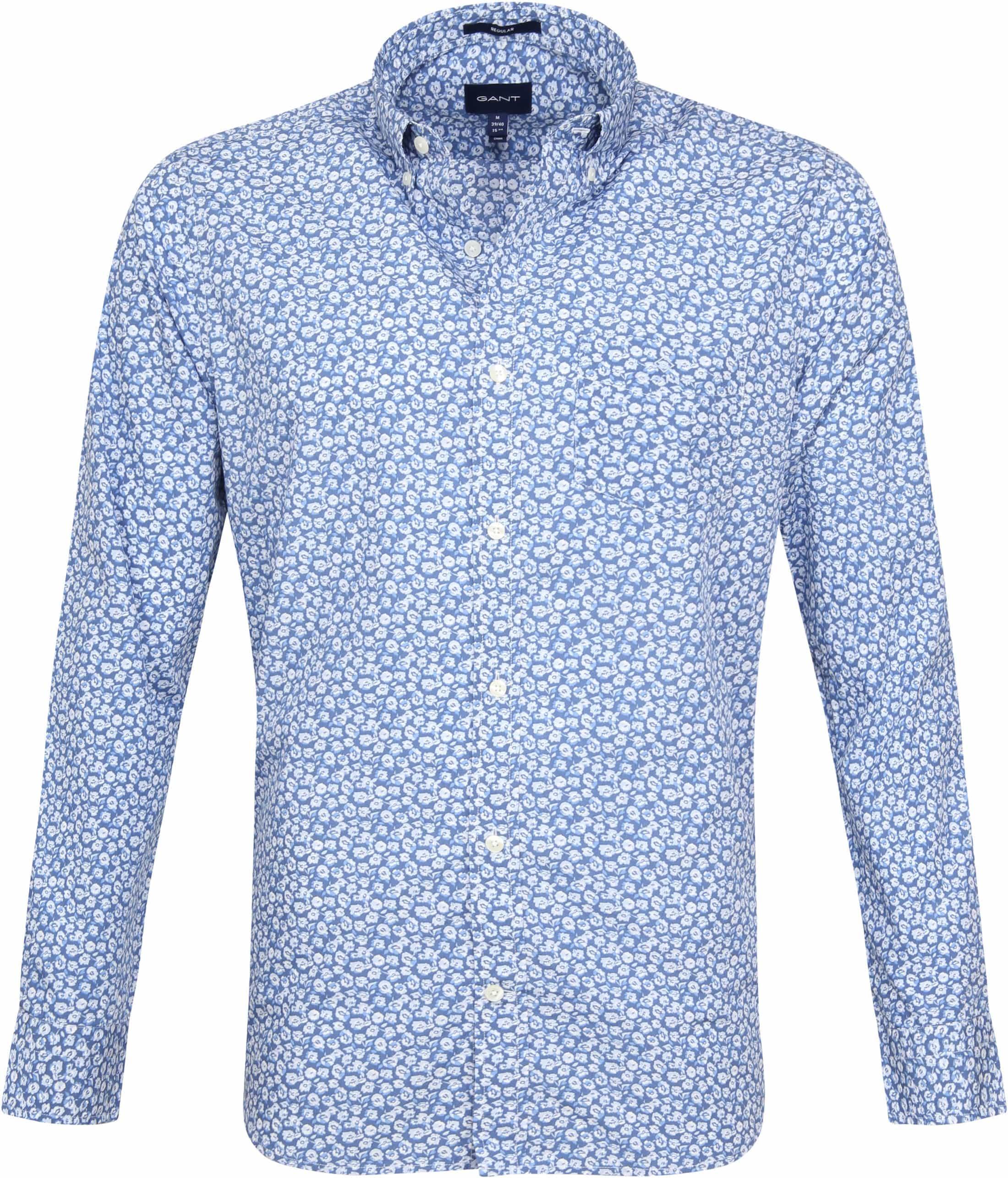 Gant Overhemd Bloem Blauw
