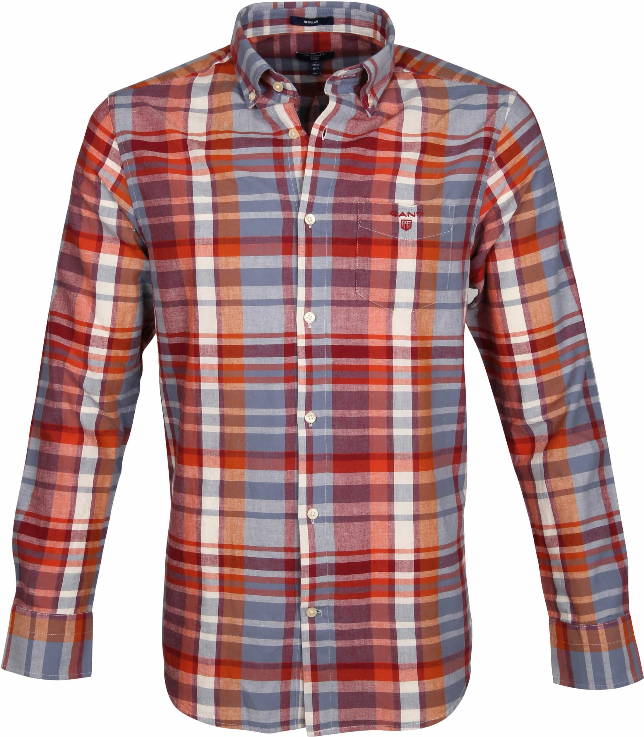 Gant Overhemd Madras Rood foto 0