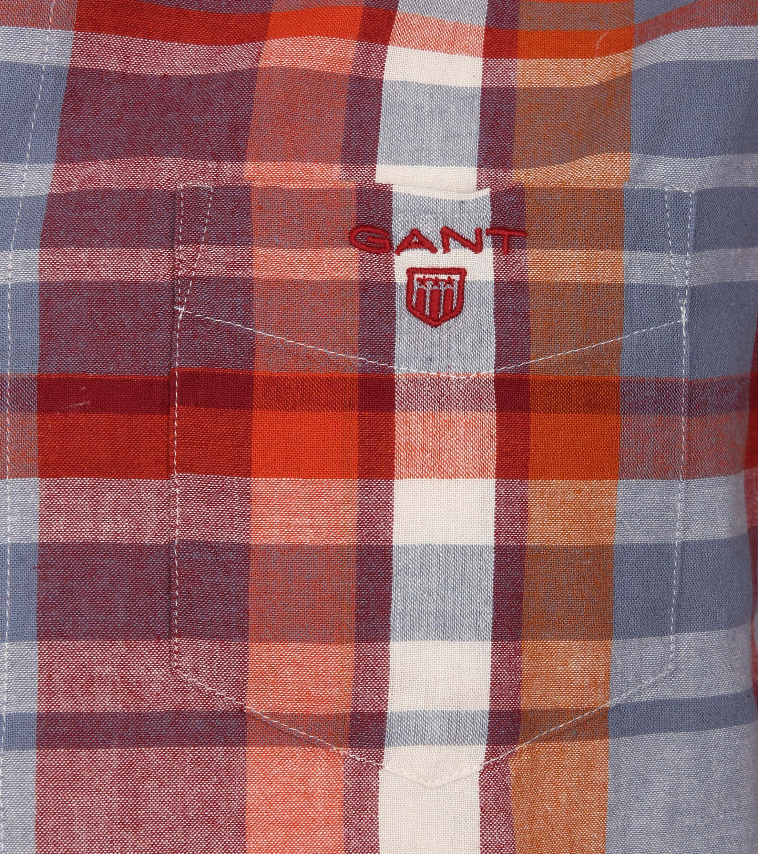 Gant Overhemd Madras Rood foto 1