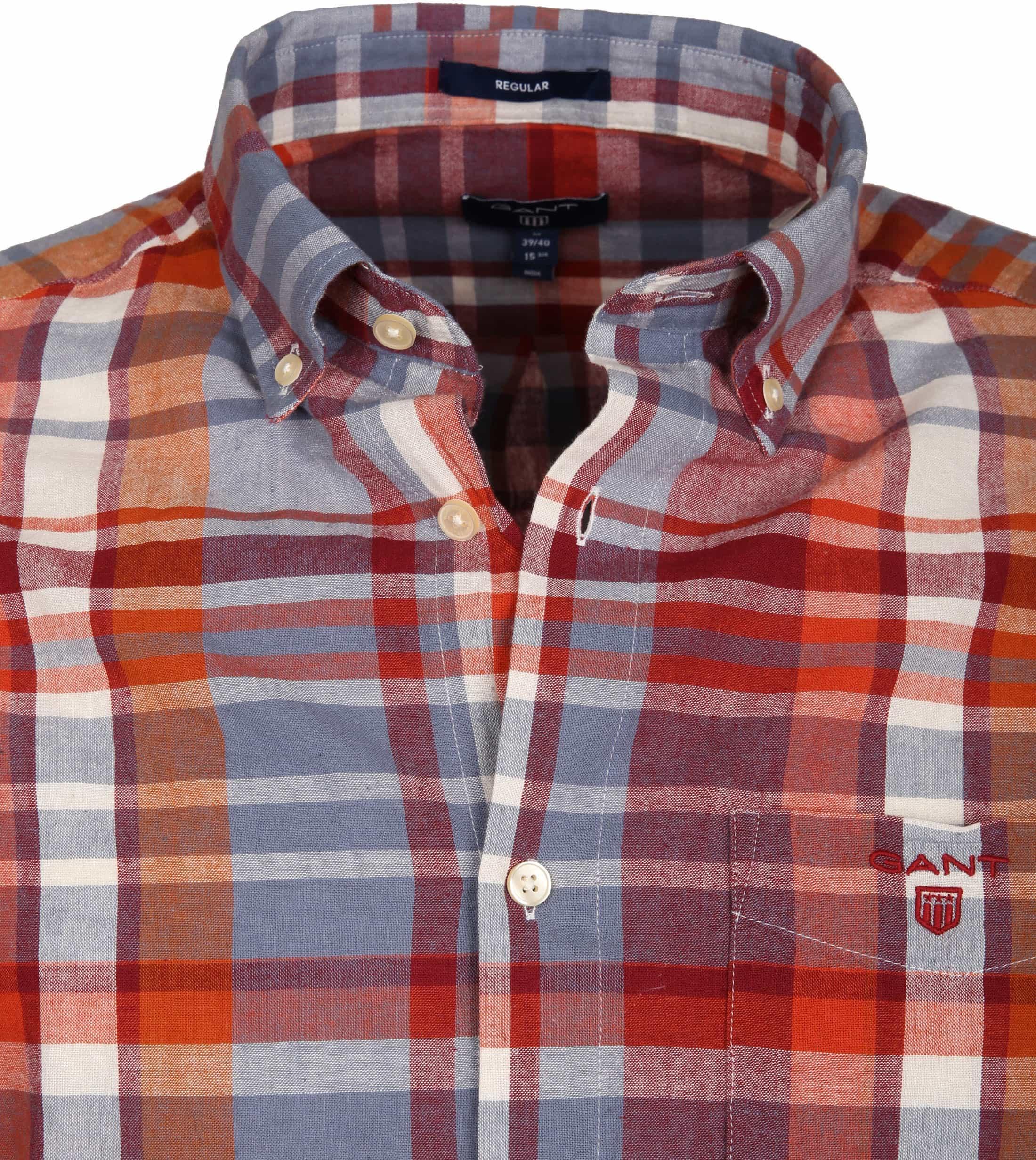Gant Overhemd Madras Rood foto 2