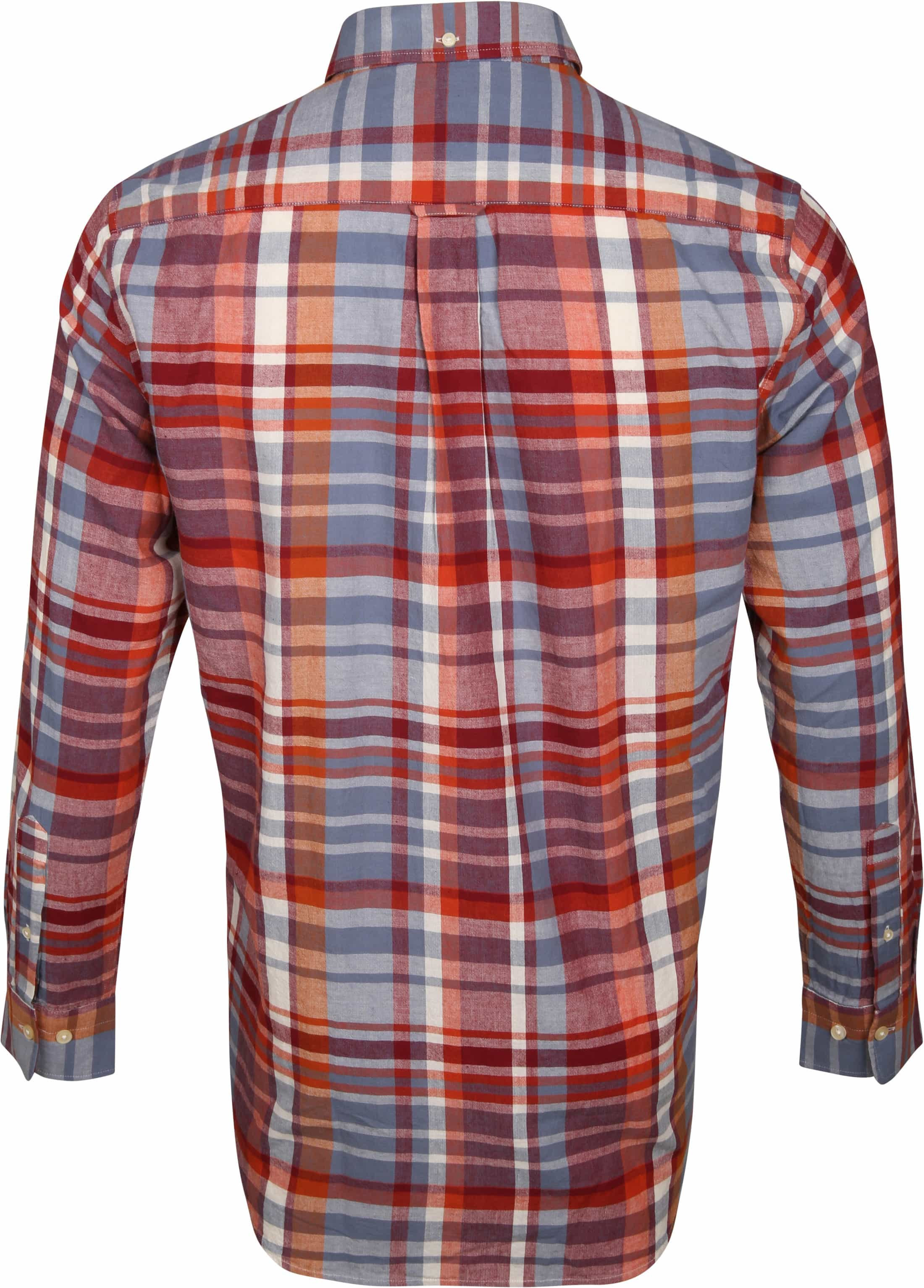 Gant Overhemd Madras Rood foto 4