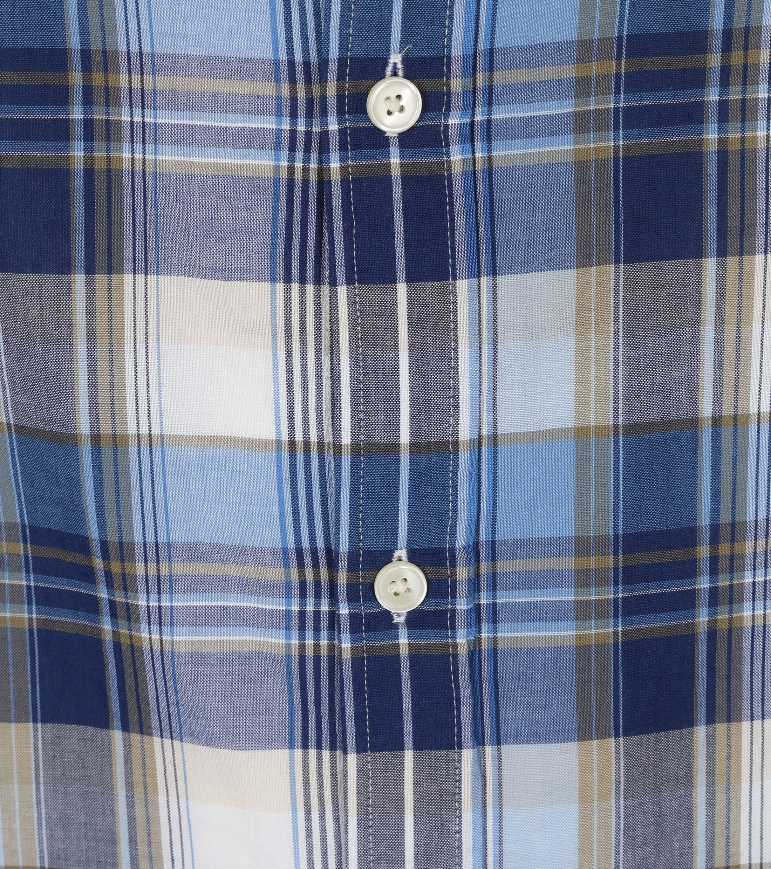 Gant Overhemd Madras Ruit Blauw