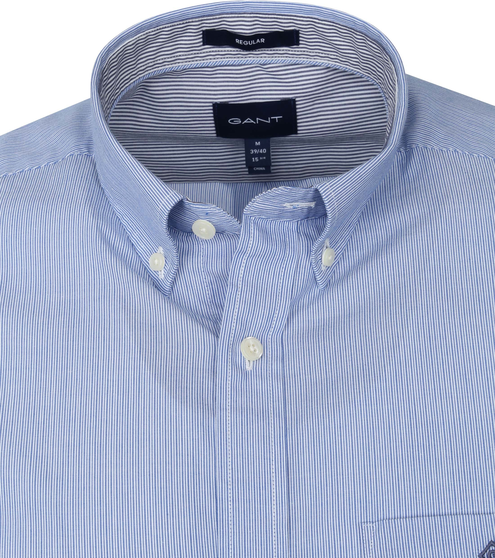 Gant Overhemd Micro Strepen Blauw