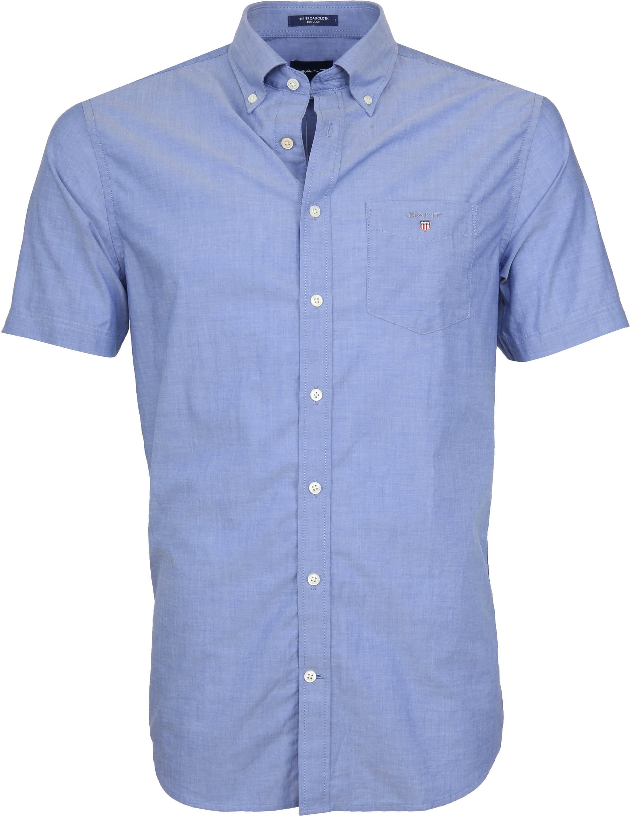 Gant Overhemd SS Broadcloth Blauw foto 0