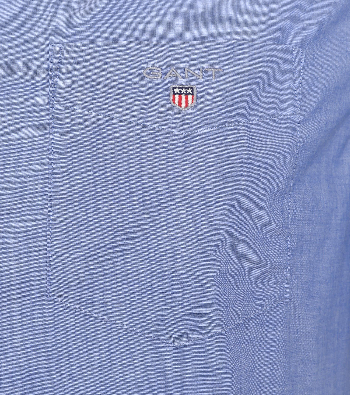 Gant Overhemd SS Broadcloth Blauw foto 2