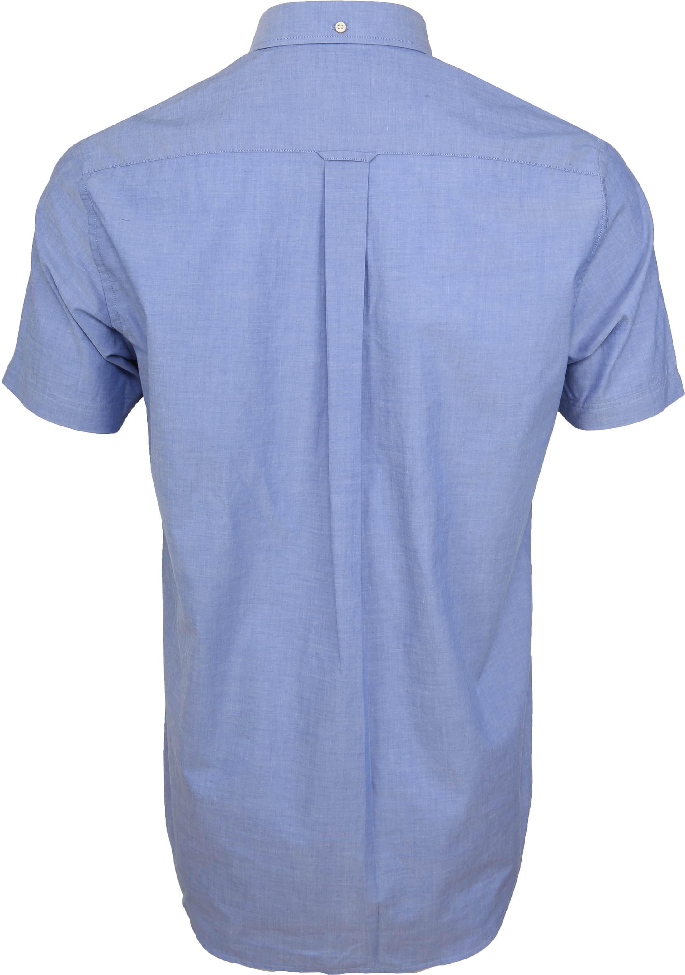 Gant Overhemd SS Broadcloth Blauw foto 3
