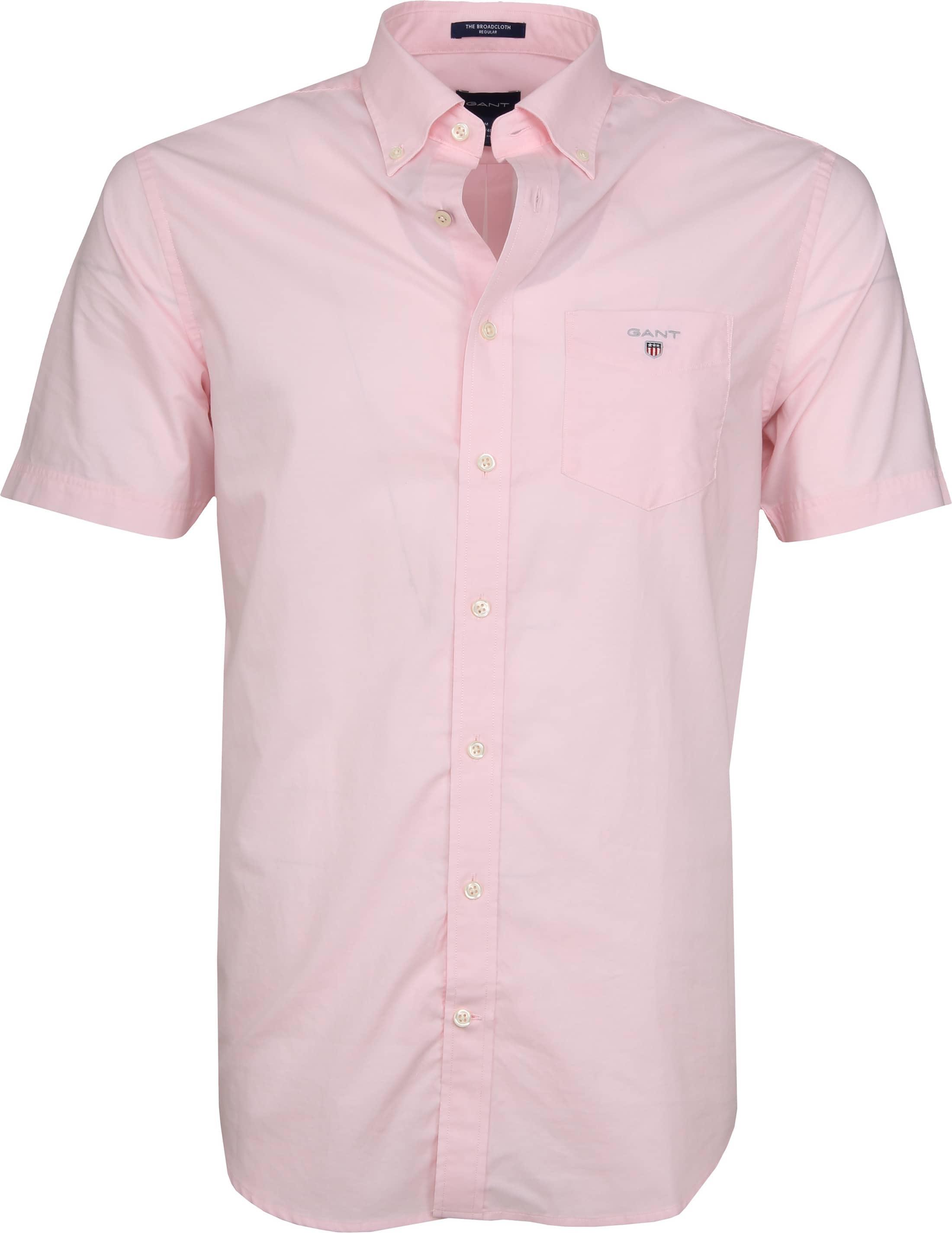 Gant Overhemd SS Broadcloth Roze foto 0