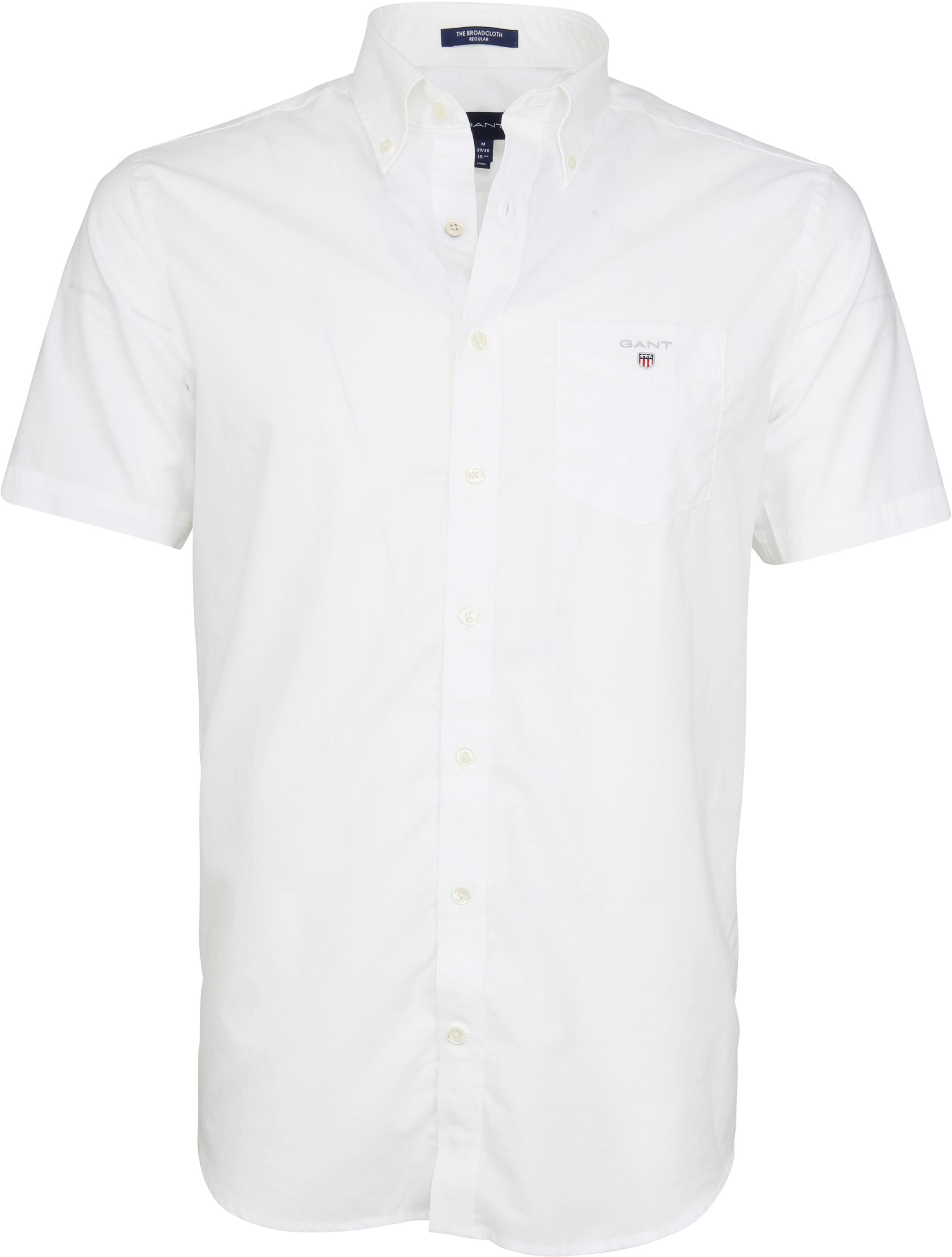 Gant Overhemd SS Broadcloth Wit foto 0