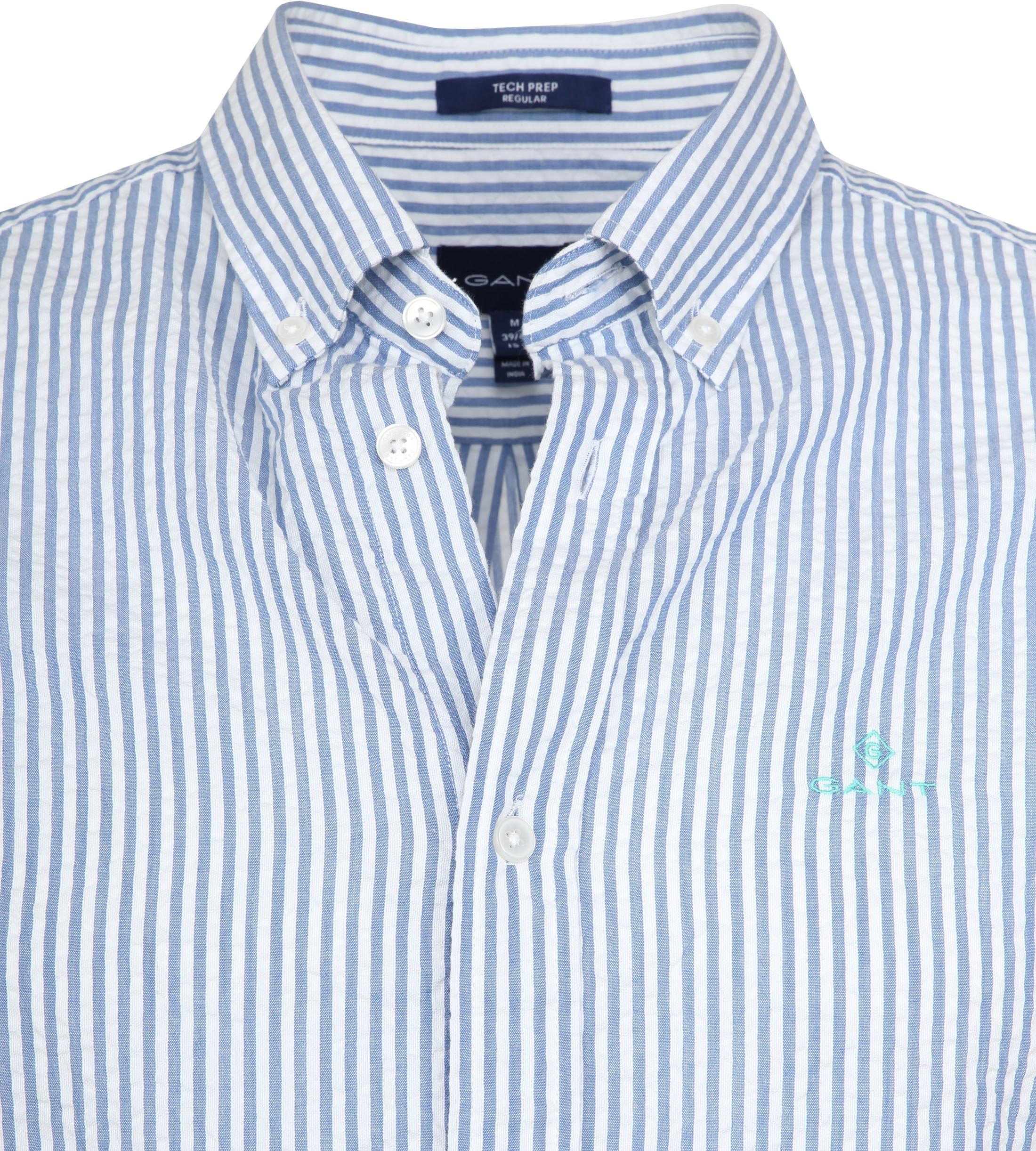 Gant Overhemd SS Seersucker Streep foto 1