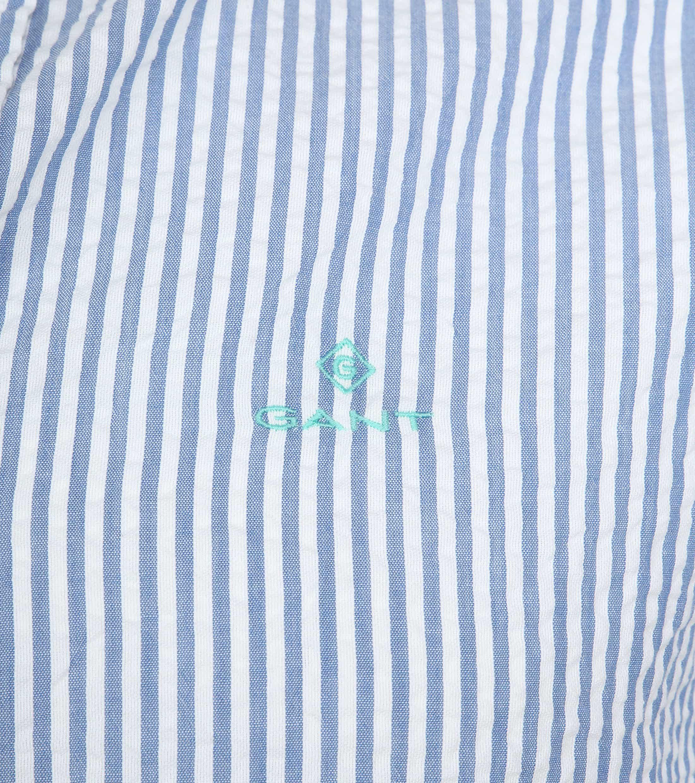 Gant Overhemd SS Seersucker Streep foto 2