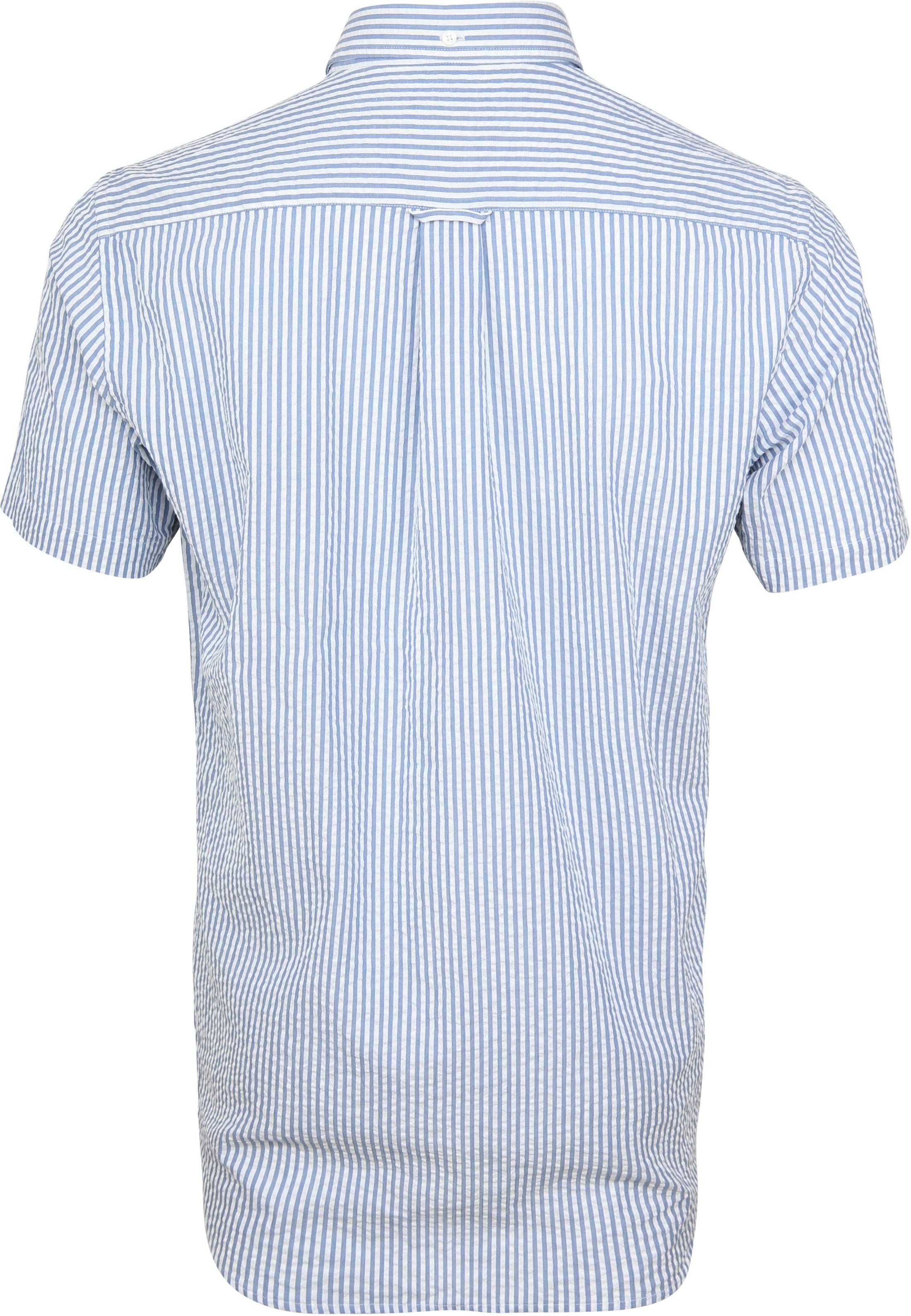 Gant Overhemd SS Seersucker Streep foto 3