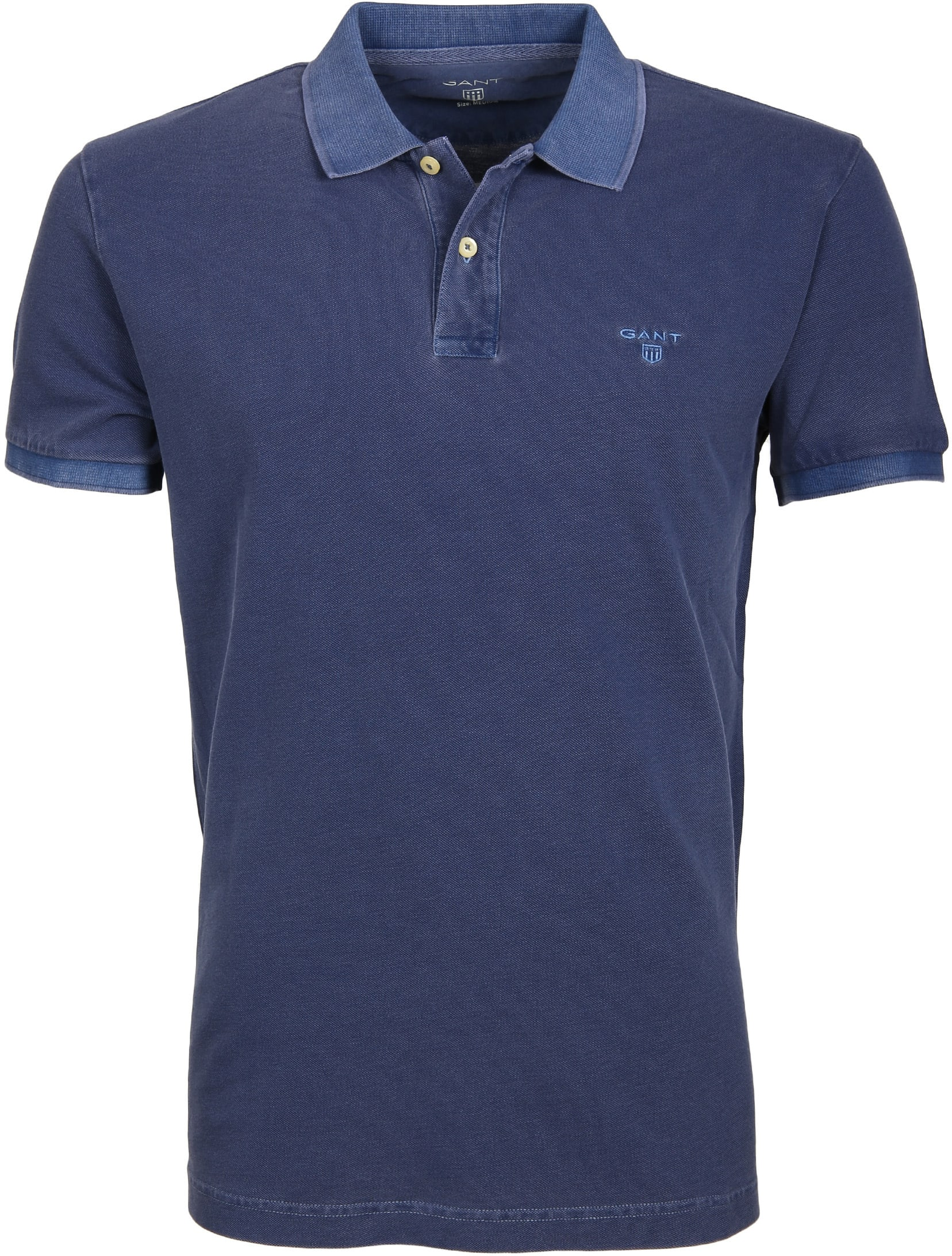 Gant Polo Basic Washed Navy foto 0