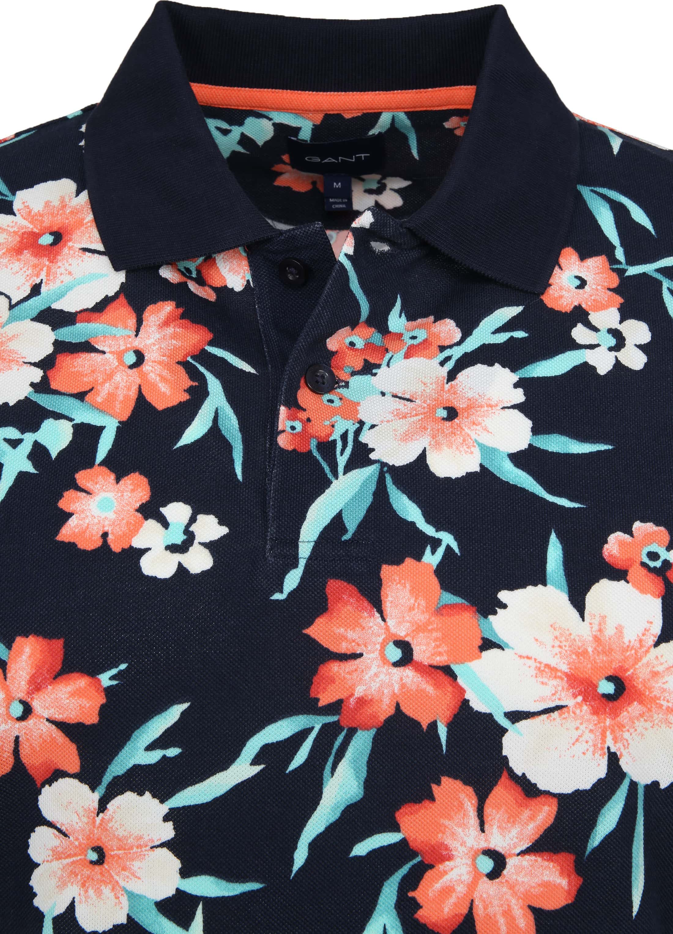 Gant Polo Floral Pique Navy foto 1