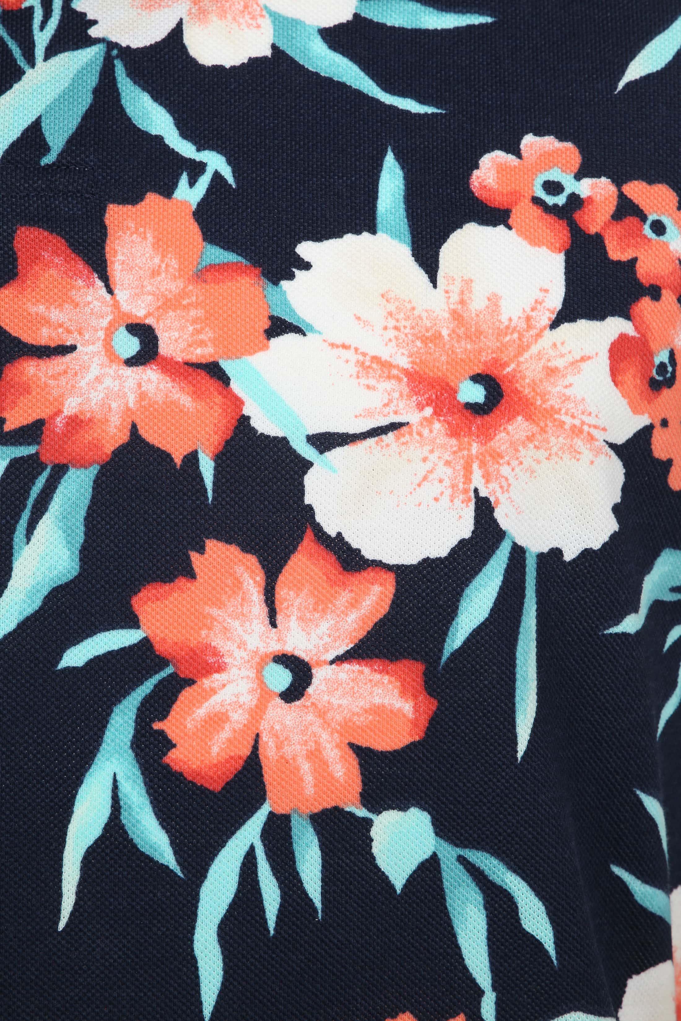 Gant Polo Floral Pique Navy foto 2
