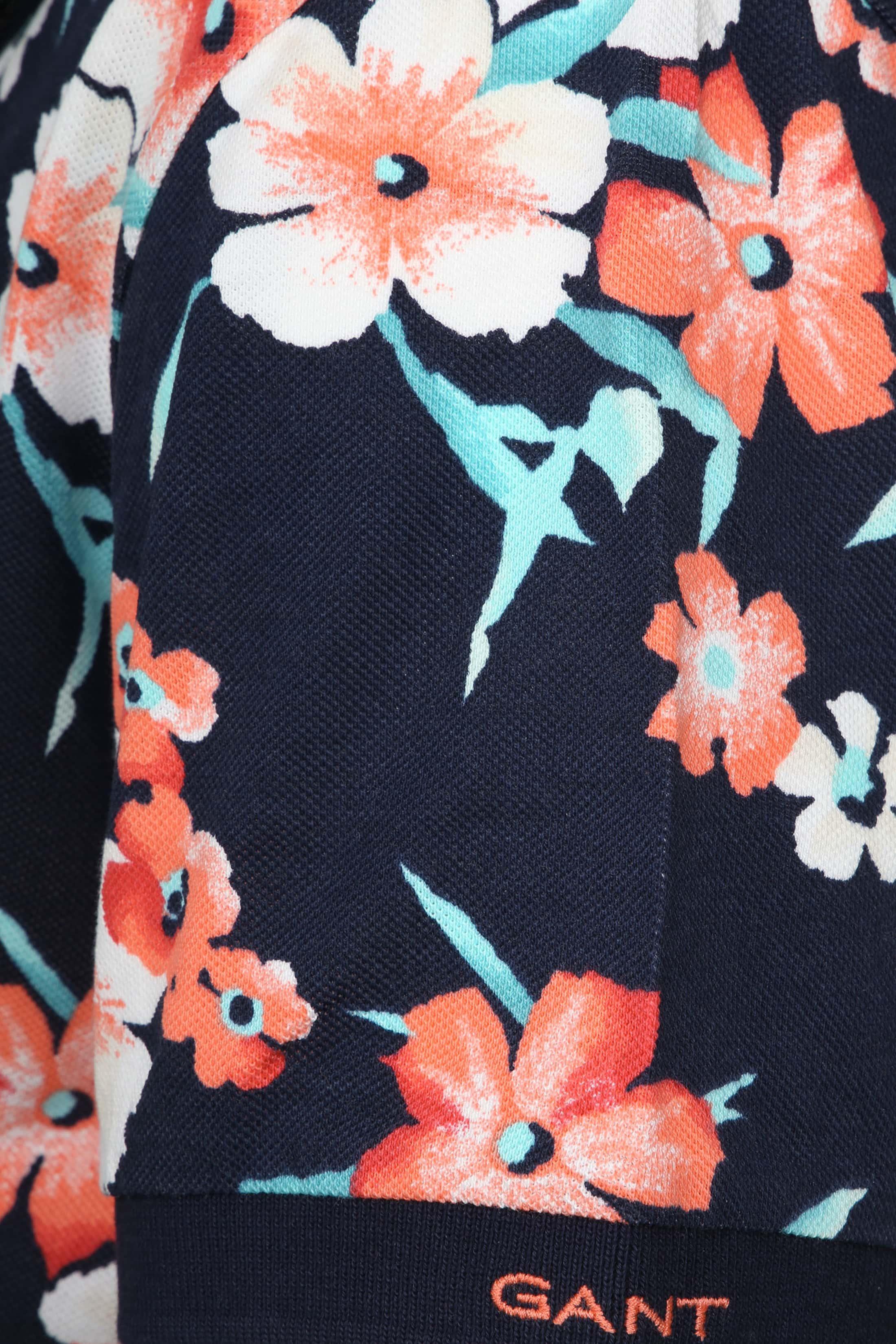 Gant Polo Floral Pique Navy foto 3