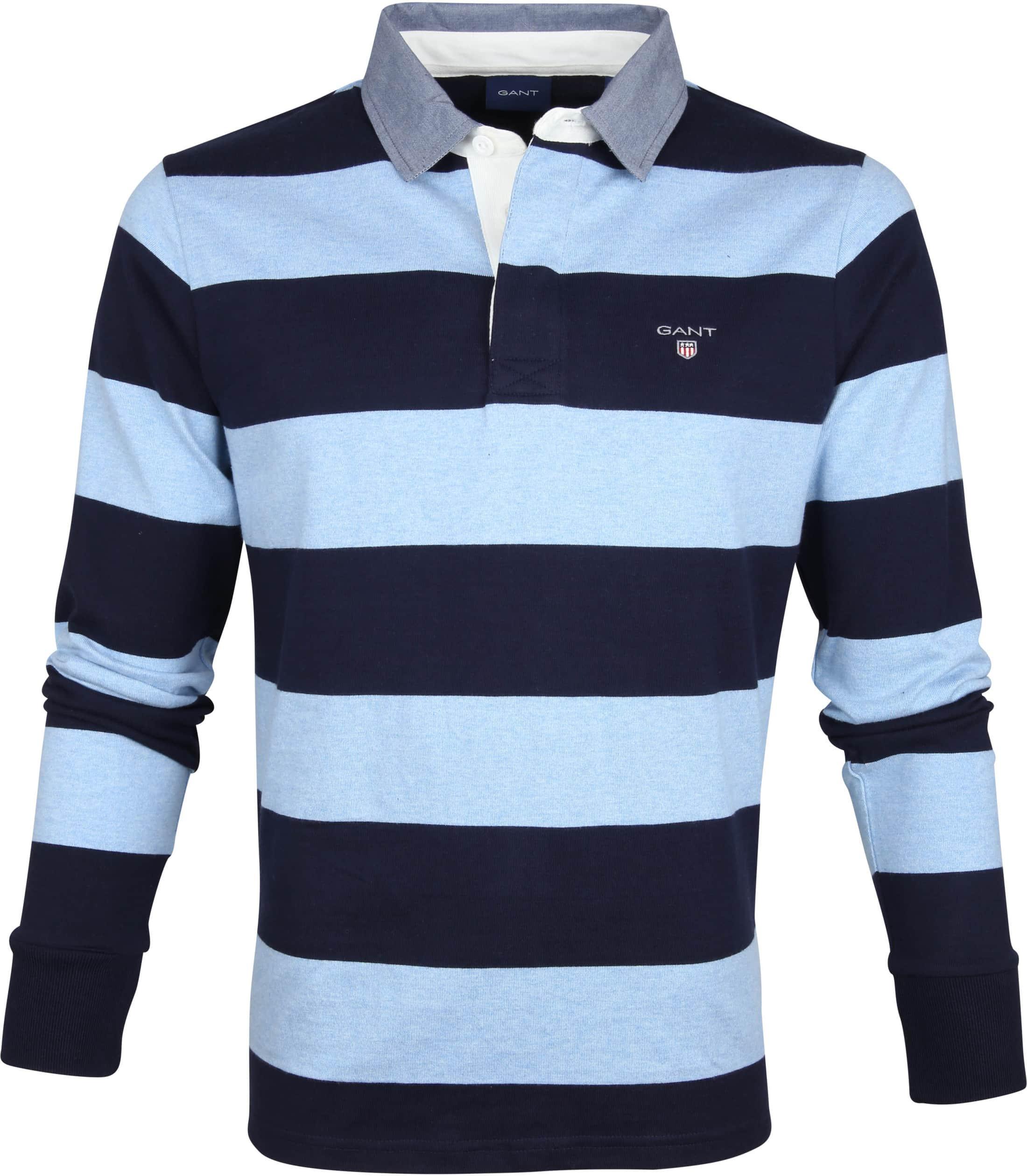 Gant Polo Poloshirt Rugger Blauw Strepen