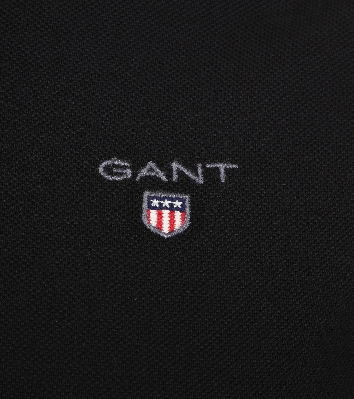 Gant Poloshirt Basic Zwart foto 2