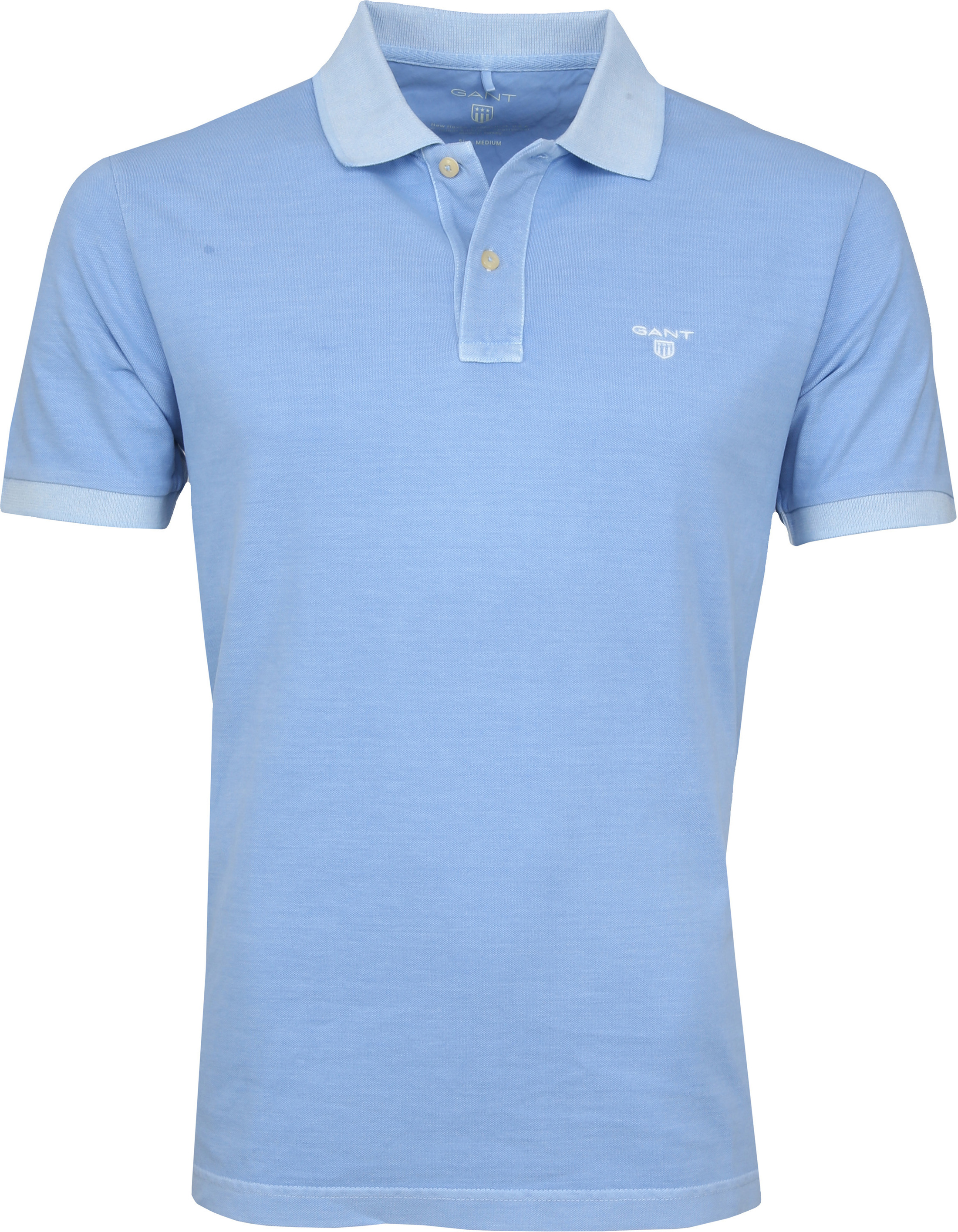 Gant Poloshirt Sunbleached Lichtblauw