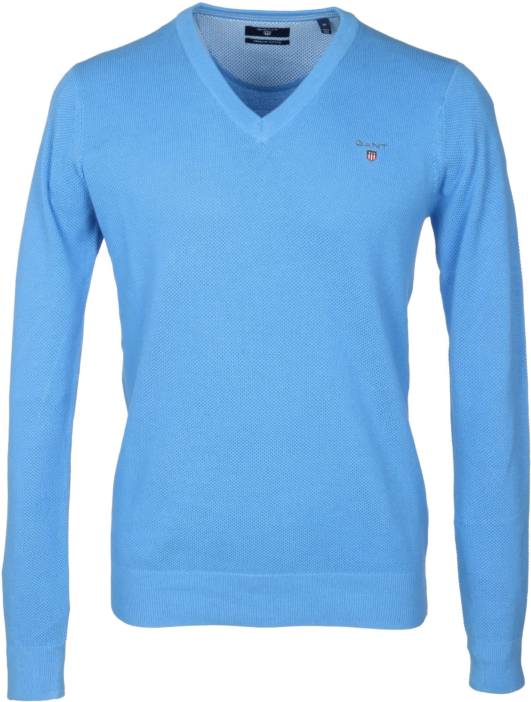 Gant Pullover Blau V-Ausschnitt foto 0