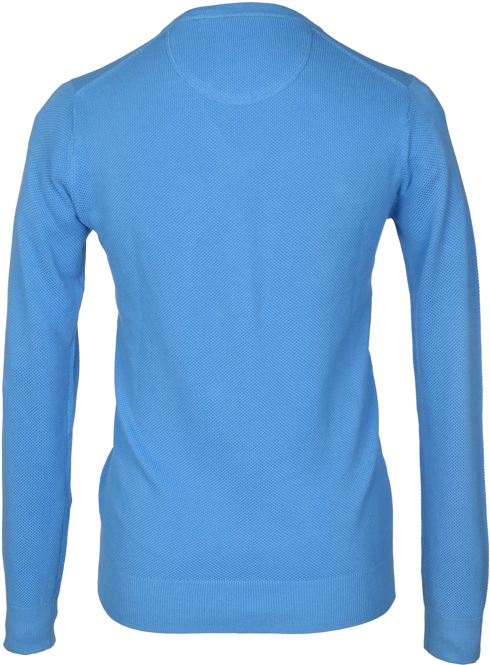 Gant Pullover Blau V-Ausschnitt foto 2