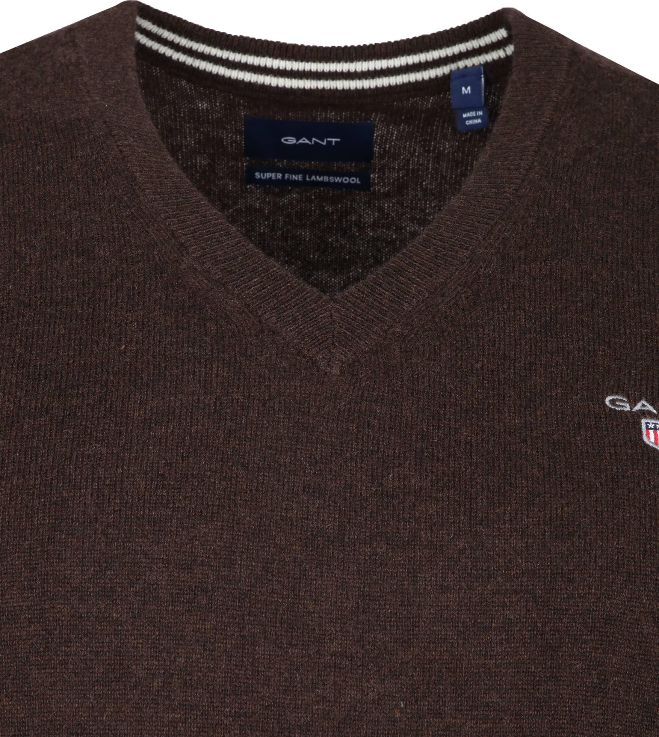 Gant Pullover Lambswool Dark Brown foto 1