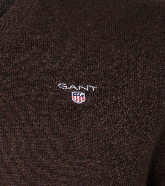Gant Pullover Lambswool Dark Brown foto 2