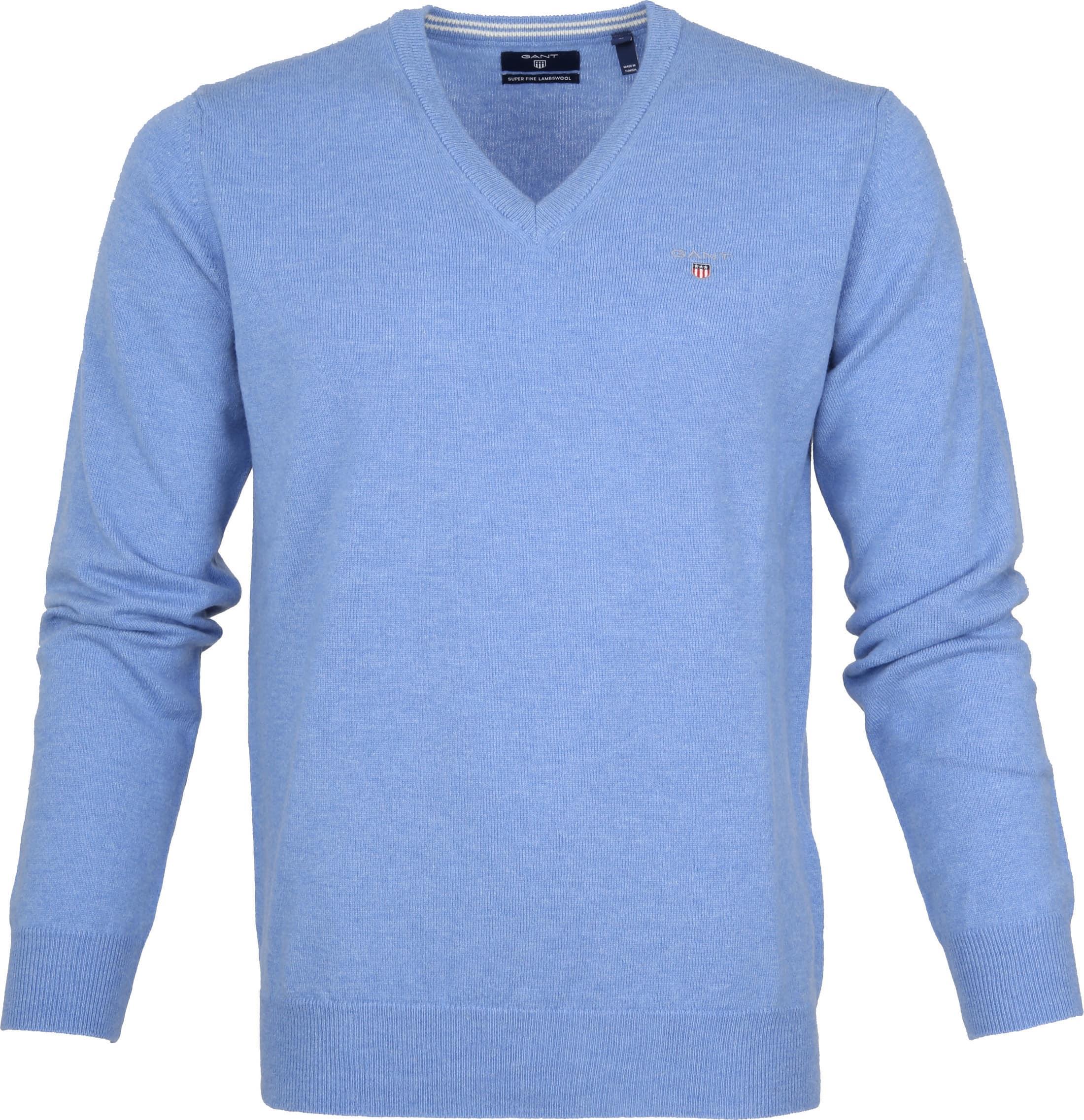 Gant Pullover Lammwolle Light Blue foto 0