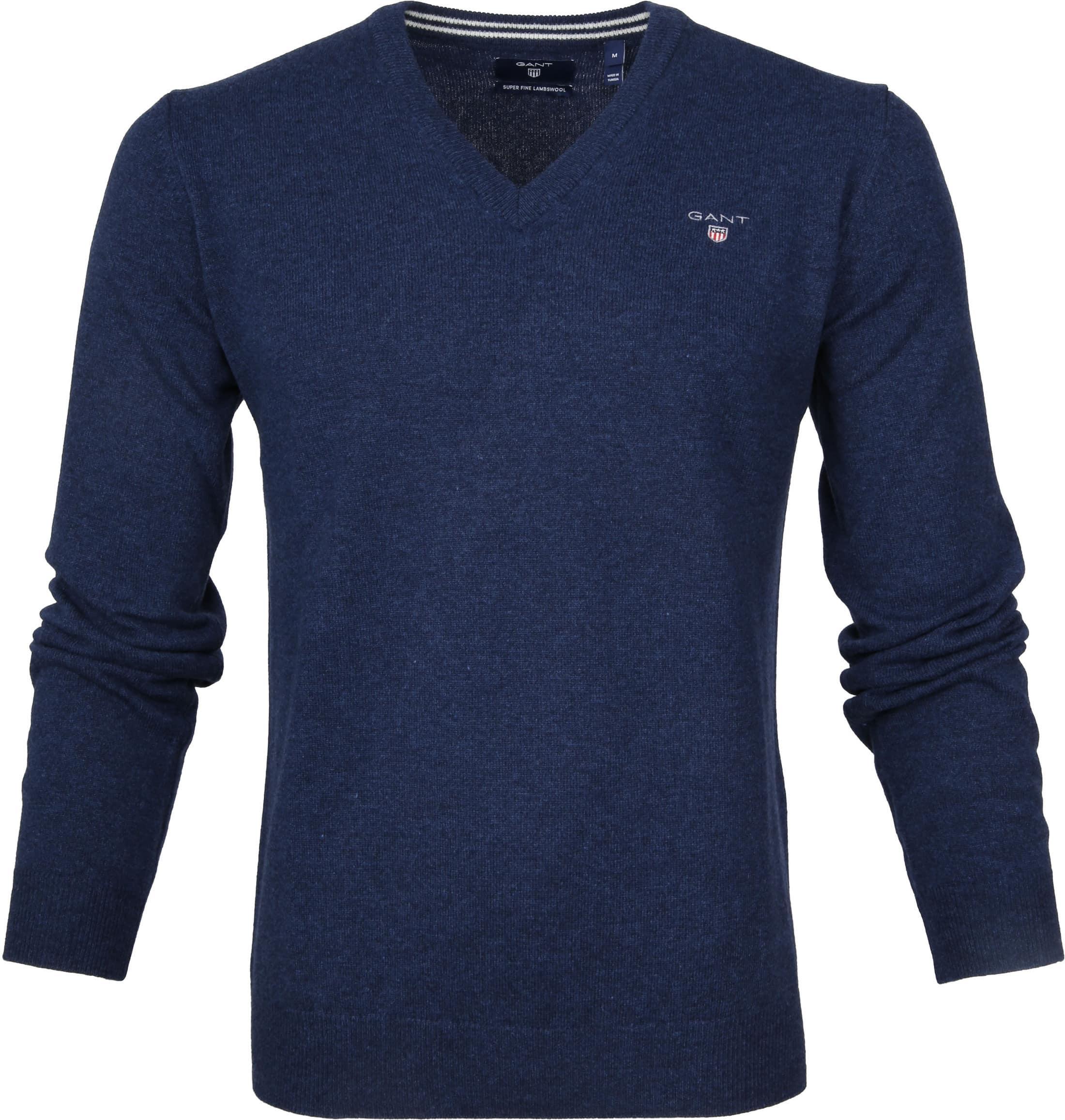 Gant Pullover Lamswol Blauw foto 0