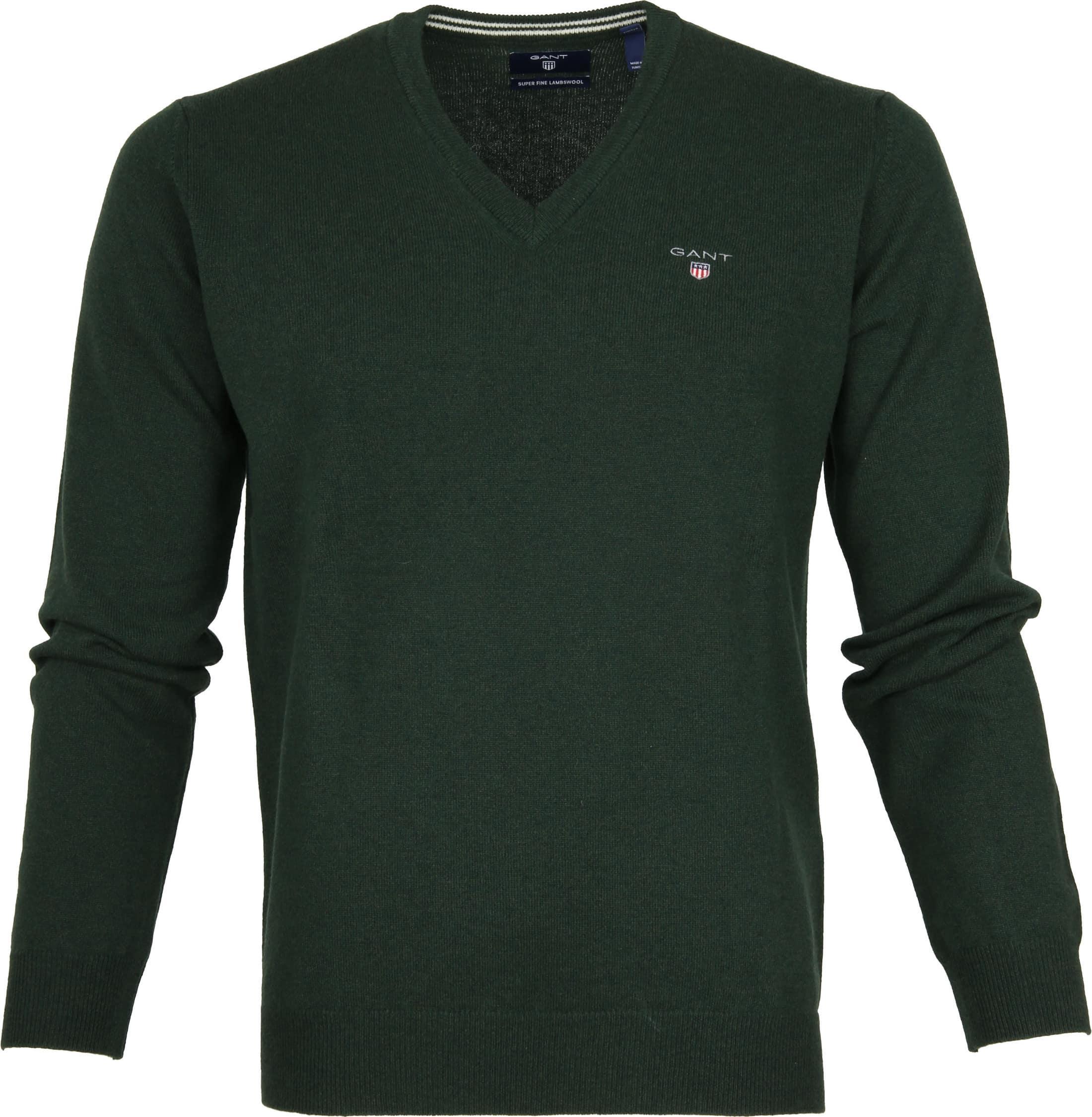 Gant Pullover Lamswol Tartan Green foto 0