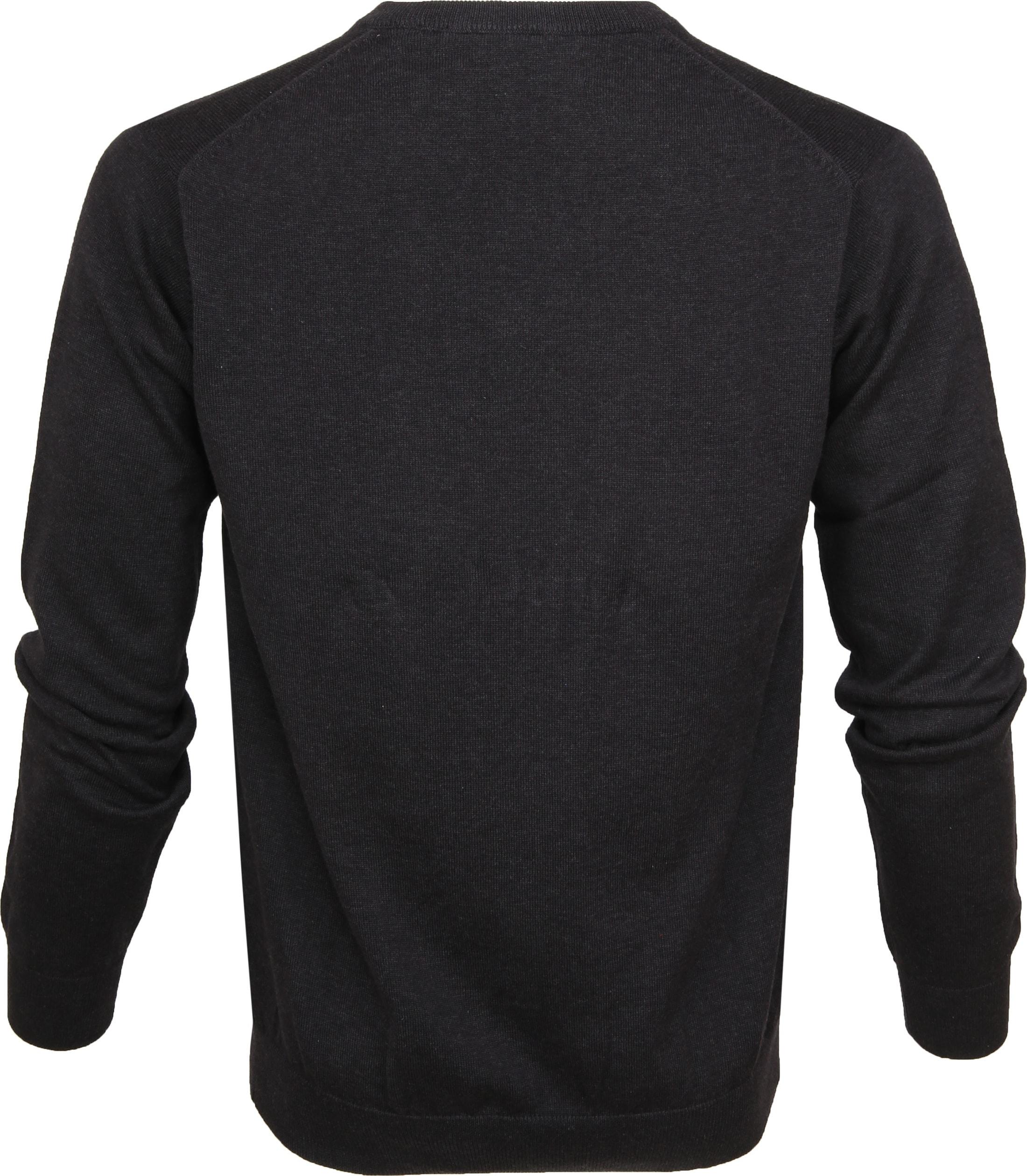 Gant Pullover Premium V-Hals Antraciet foto 2