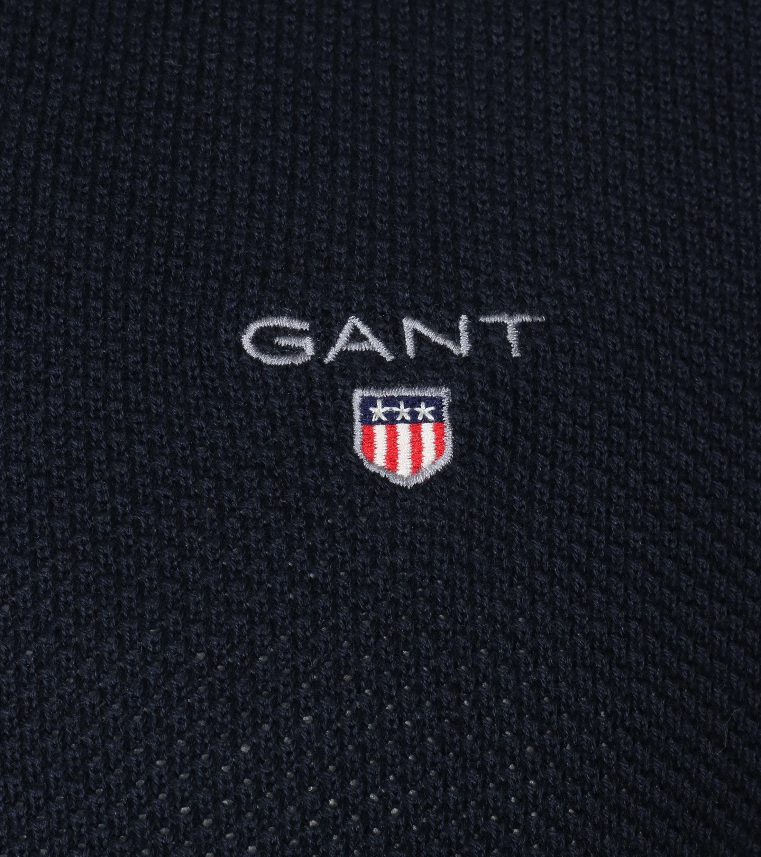 Gant Pullover V-Ausschnitt Dunkelblau foto 1