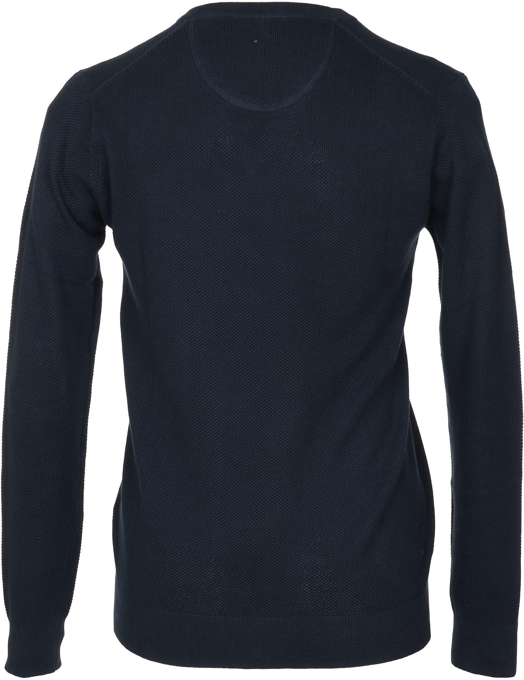 Gant Pullover V-Ausschnitt Dunkelblau foto 2