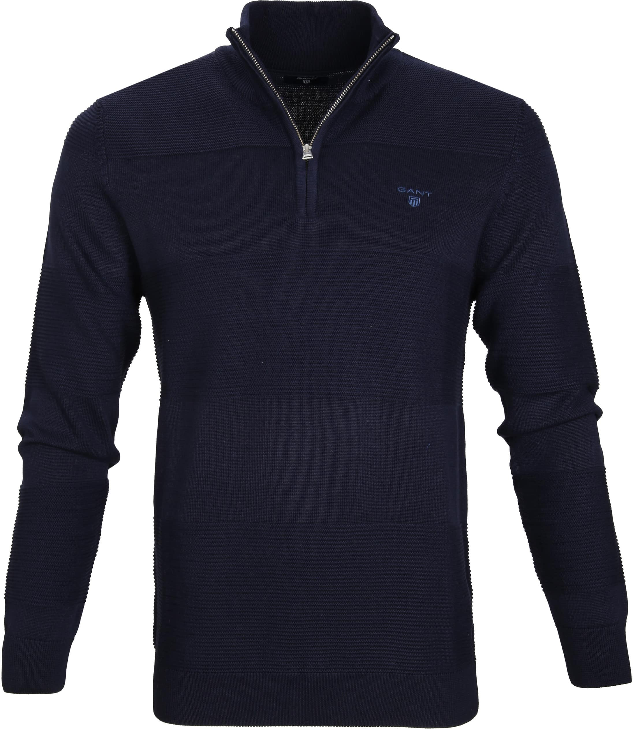 Gant Pullover Zipper Dessin Navy foto 0
