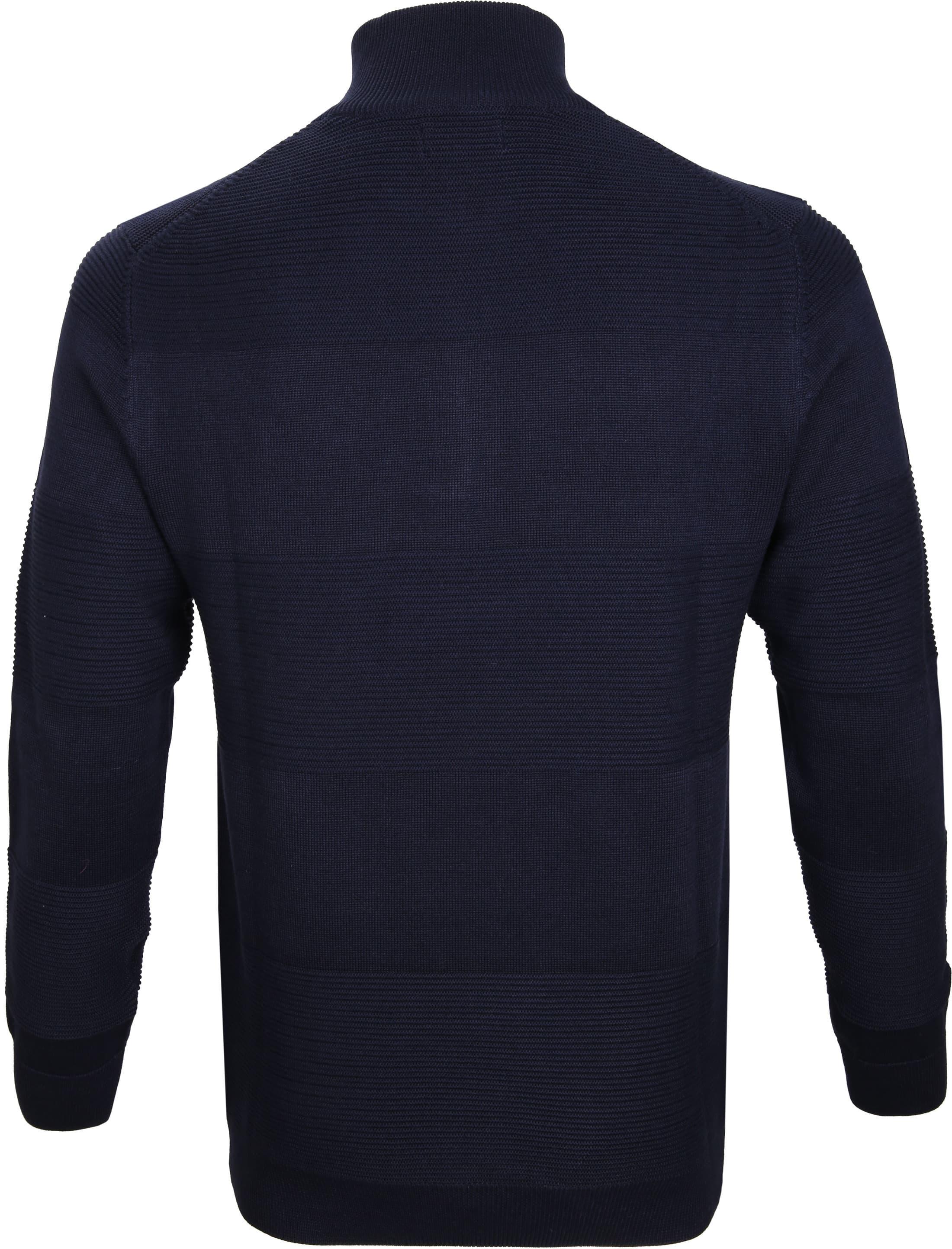Gant Pullover Zipper Dessin Navy foto 3
