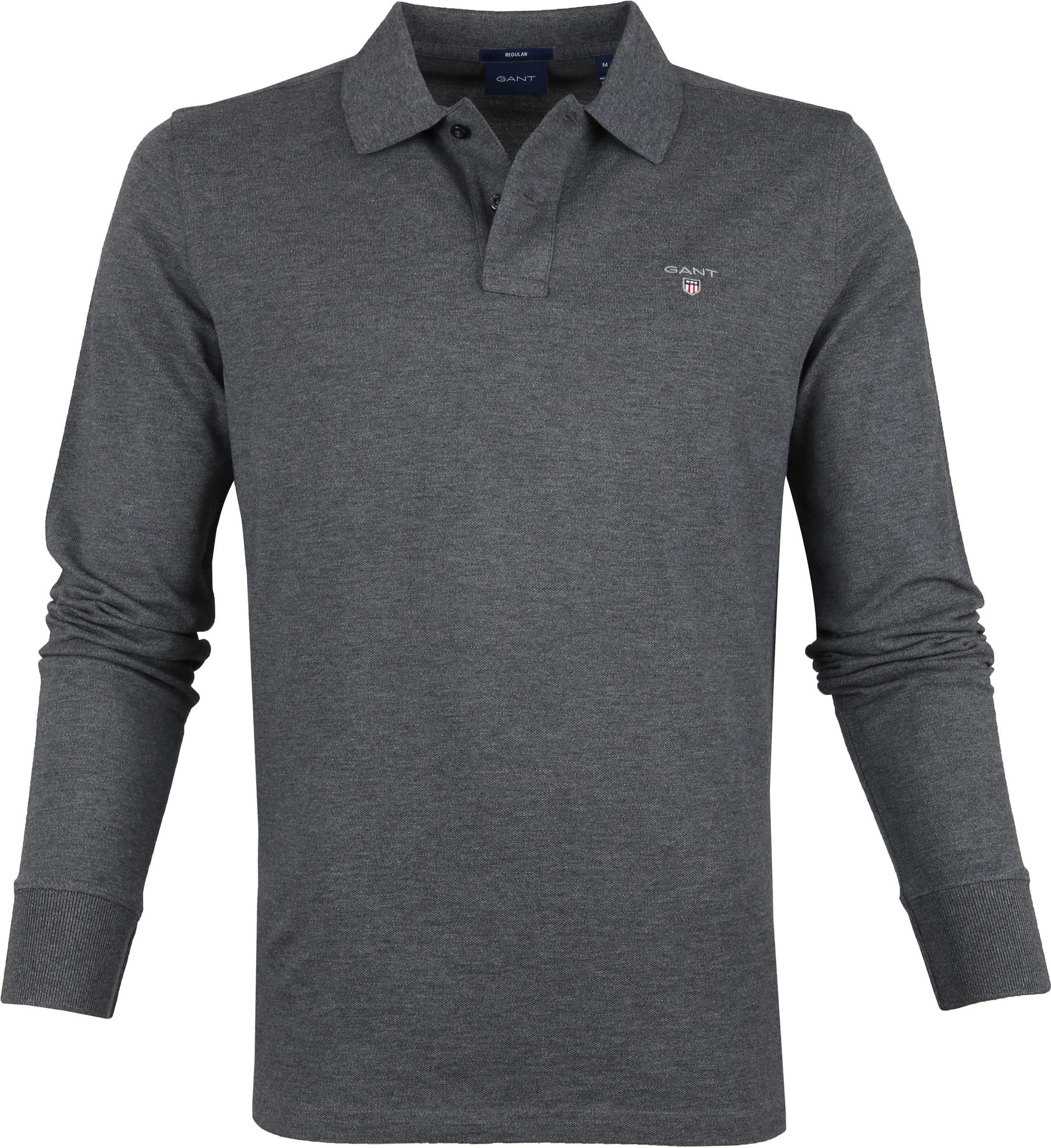 Gant Rugger LS Poloshirt Dark Grey foto 0