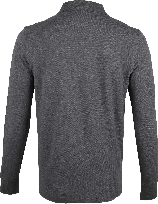 Gant Rugger LS Poloshirt Dark Grey foto 3