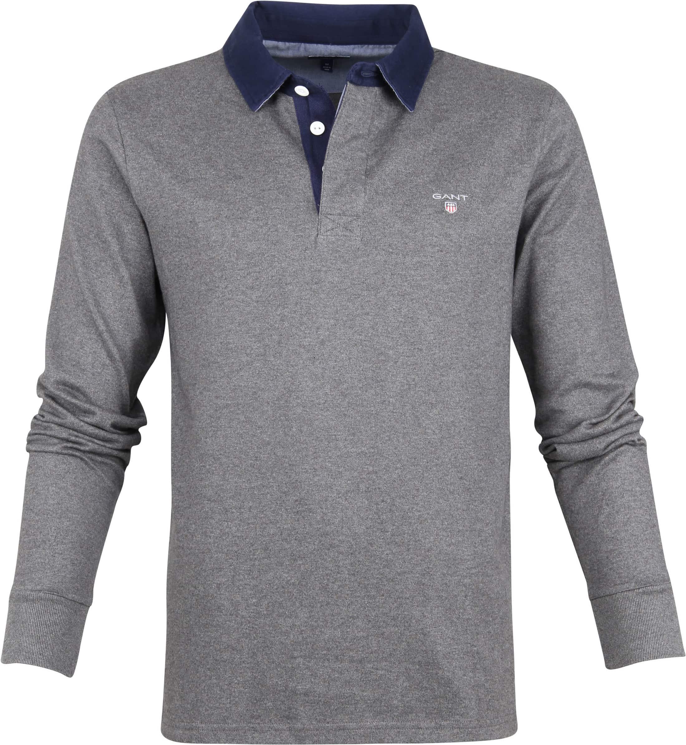 Gant Rugger Poloshirt LS Antraciet foto 0
