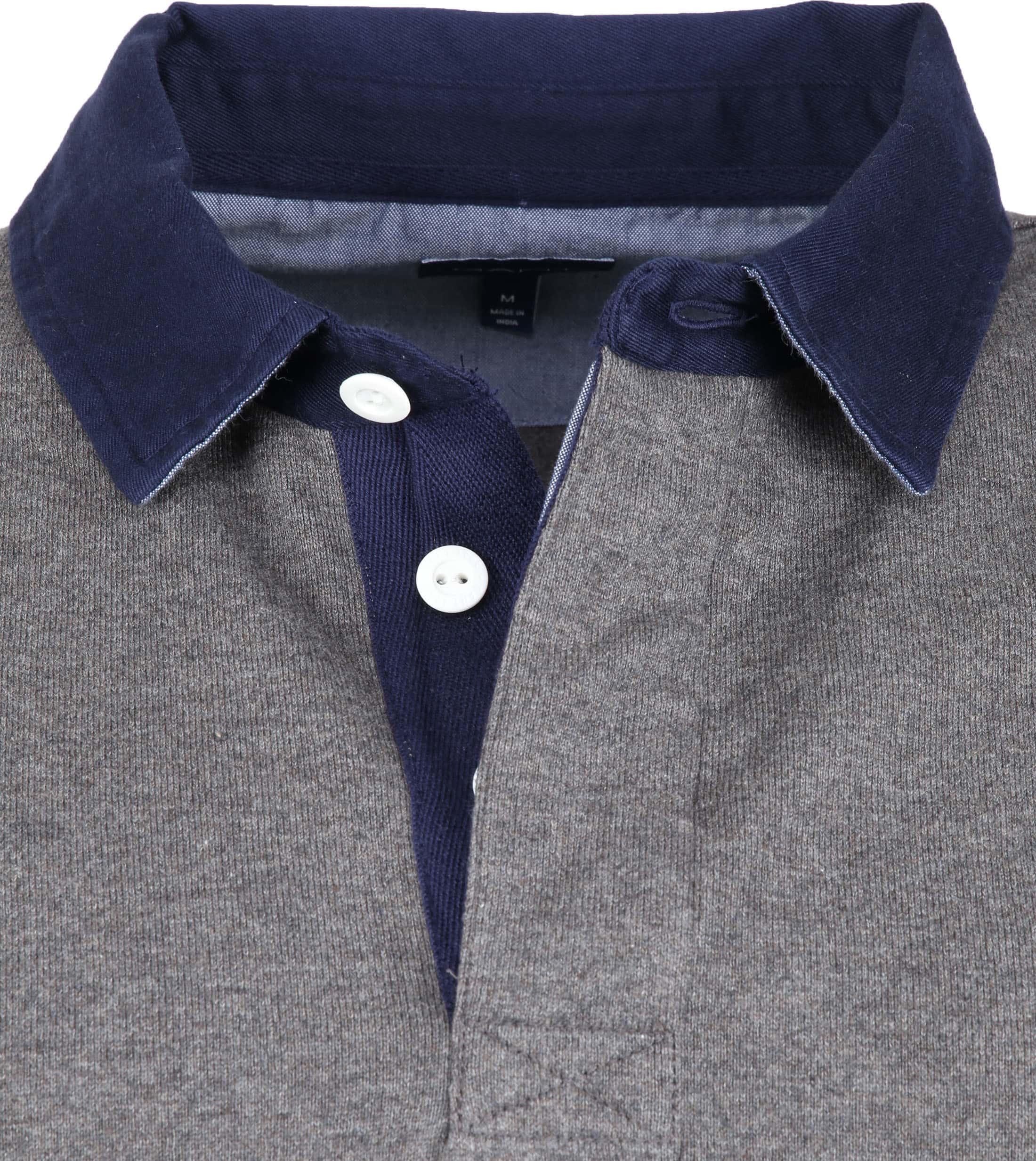 Gant Rugger Poloshirt LS Antraciet foto 1