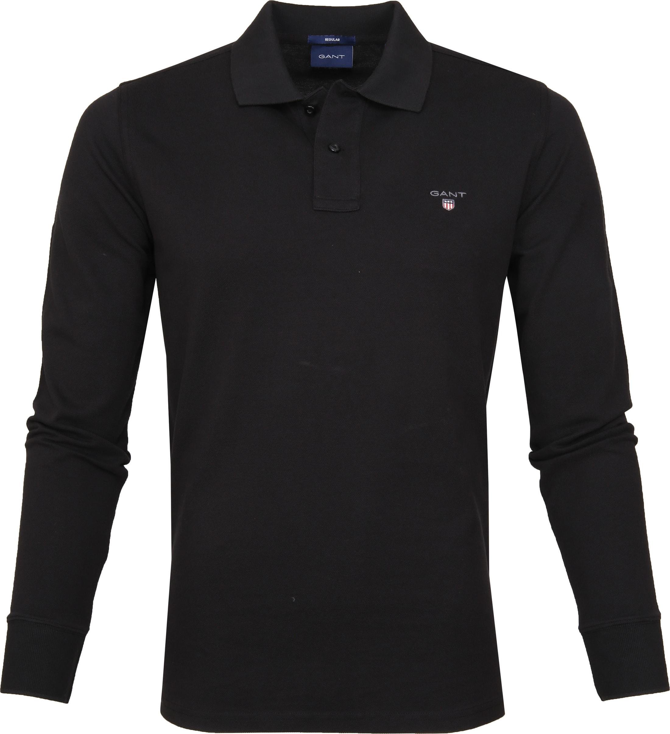 Gant Rugger Poloshirt LS Black foto 0