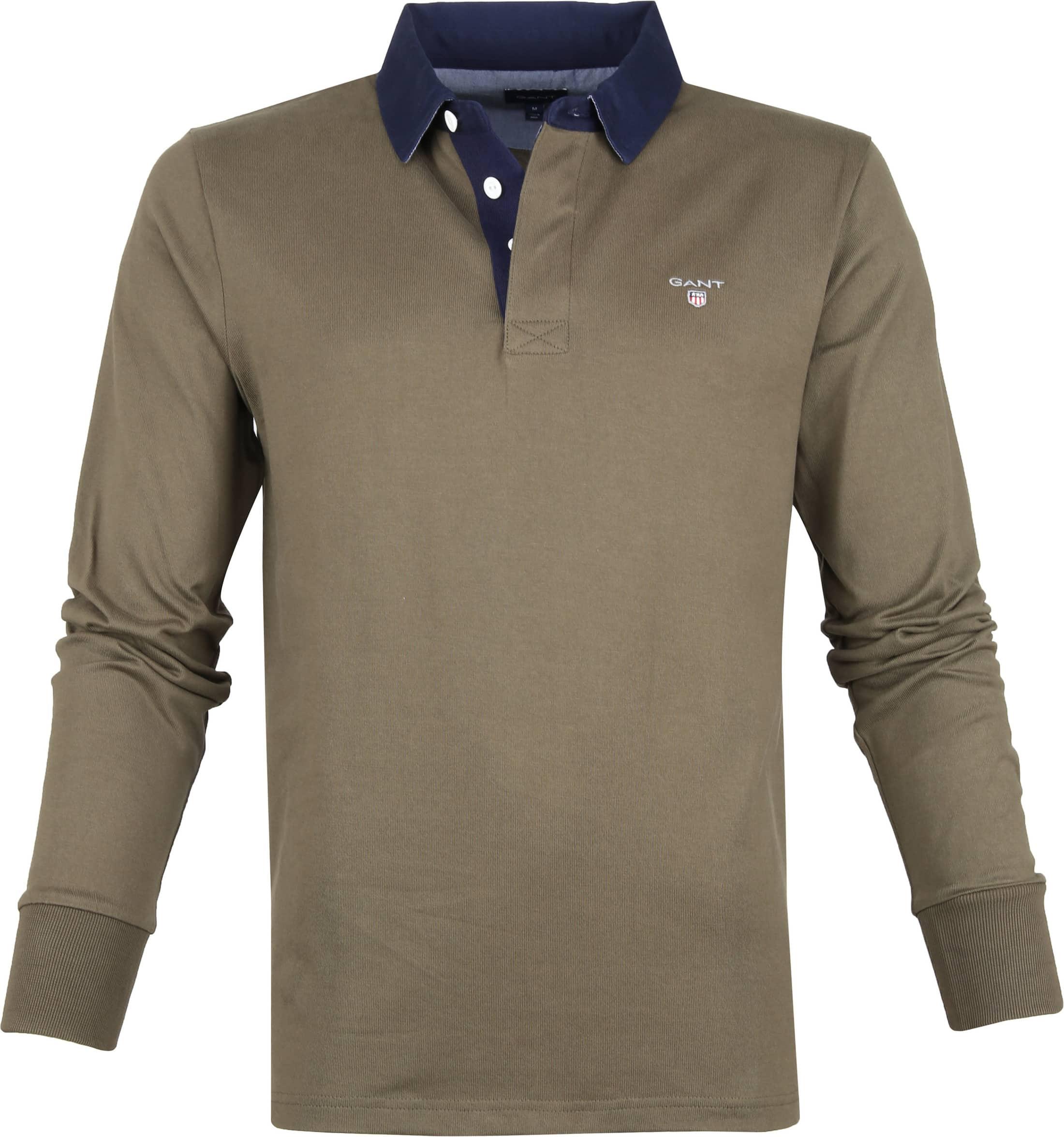 Gant Rugger Poloshirt LS Dunkelgrün foto 0
