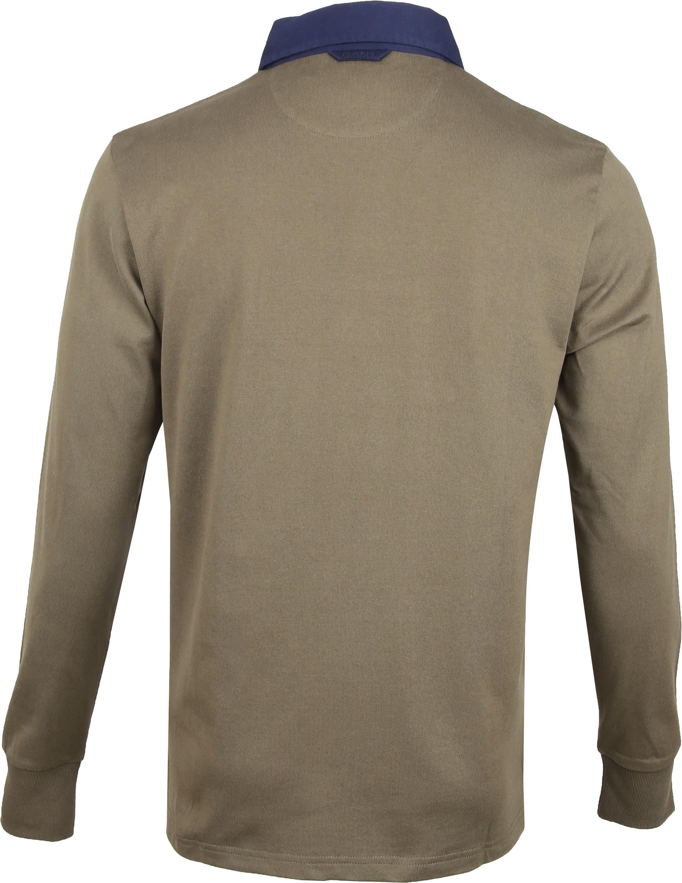 Gant Rugger Poloshirt LS Dunkelgrün foto 3