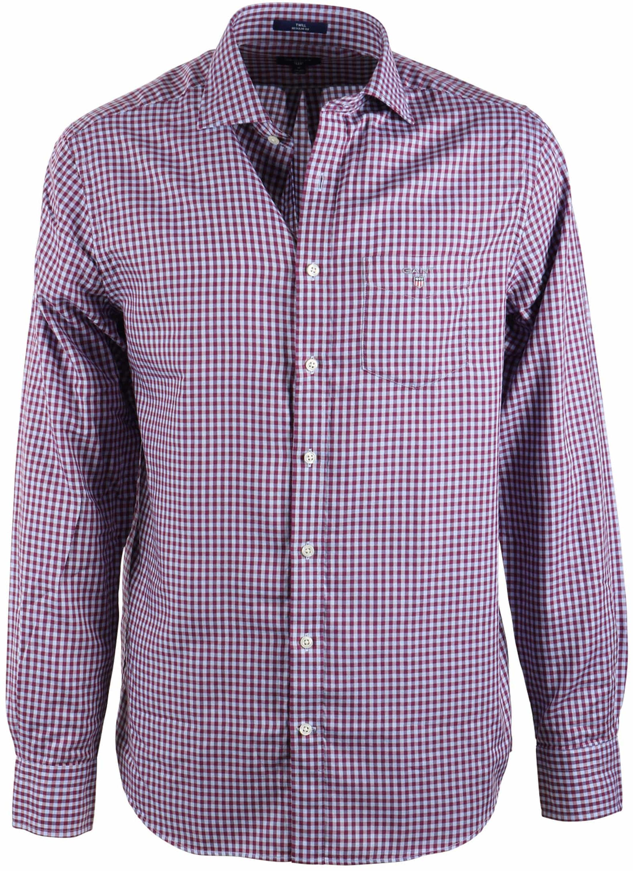 Gant Shirt Bordeaux Blue Checks Foto 0