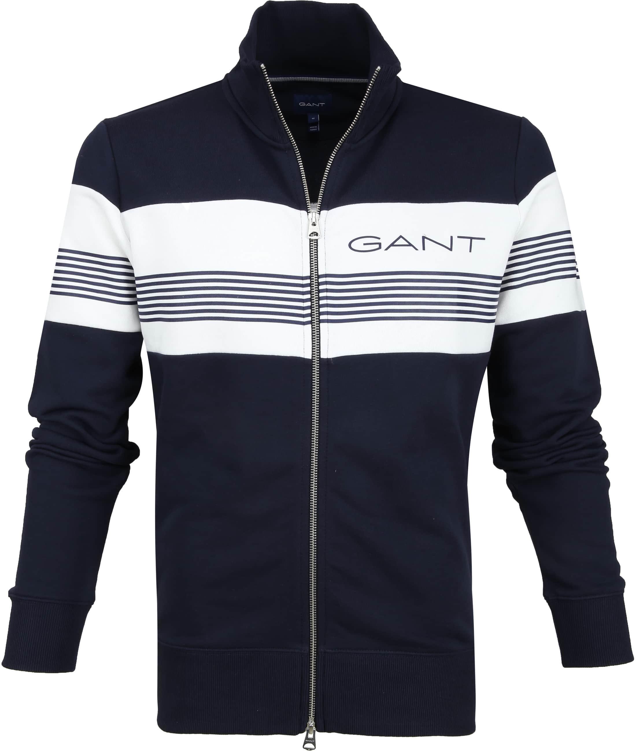 Gant Vest Strepen Donkerblauw