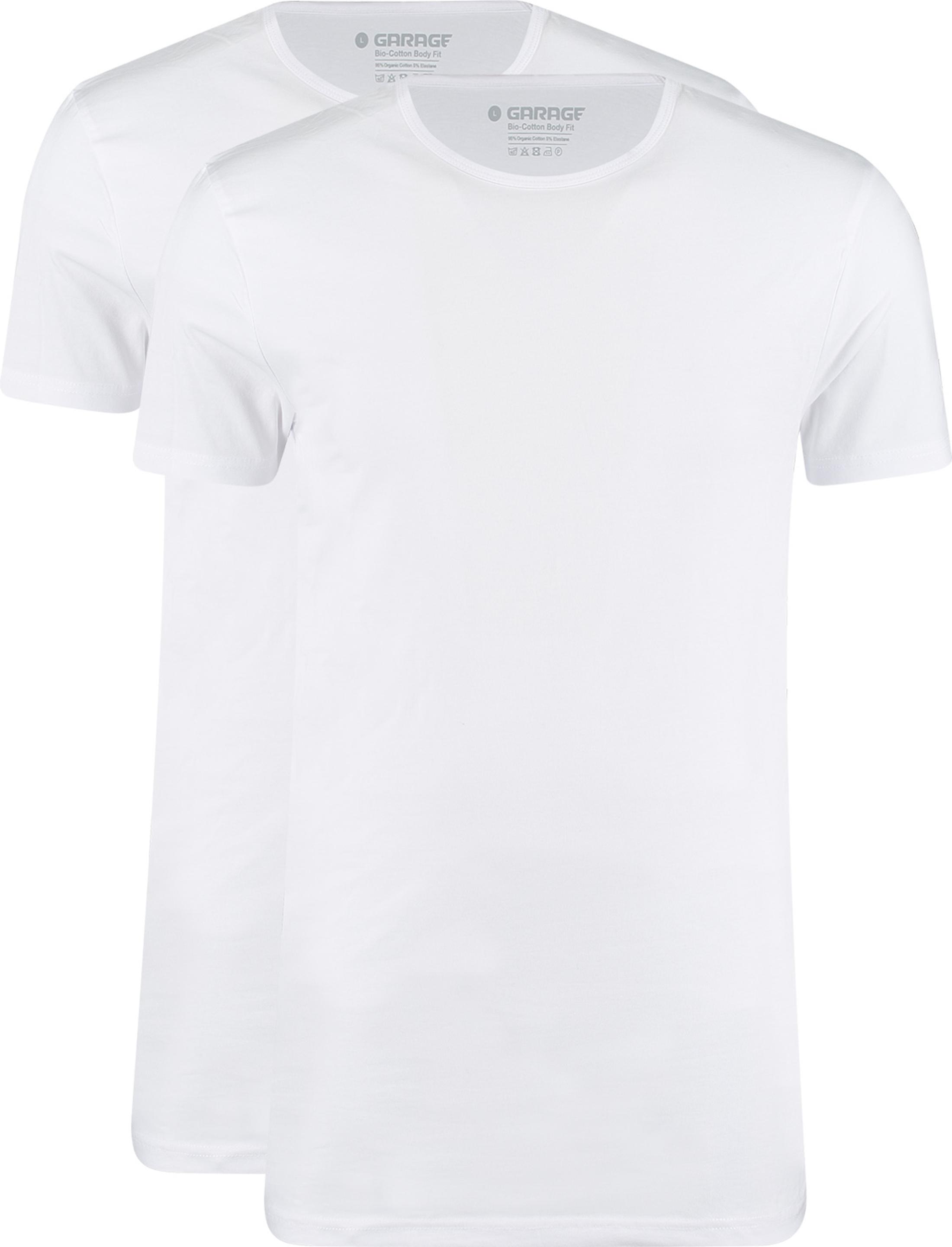 Garage 2-Pack Basic T-shirt Bio Wit