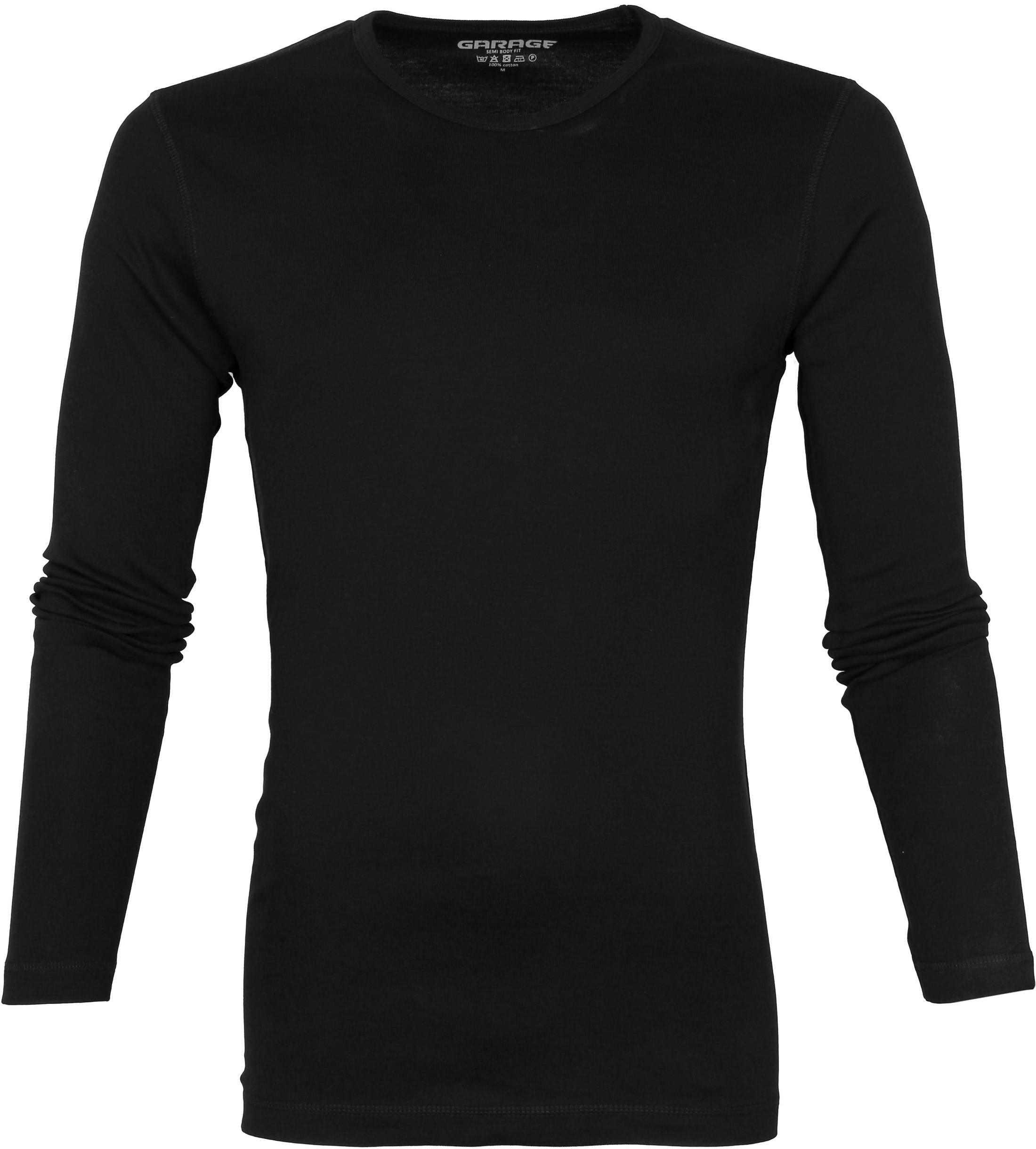 Garage Basic T-shirt Longsleeve Zwart