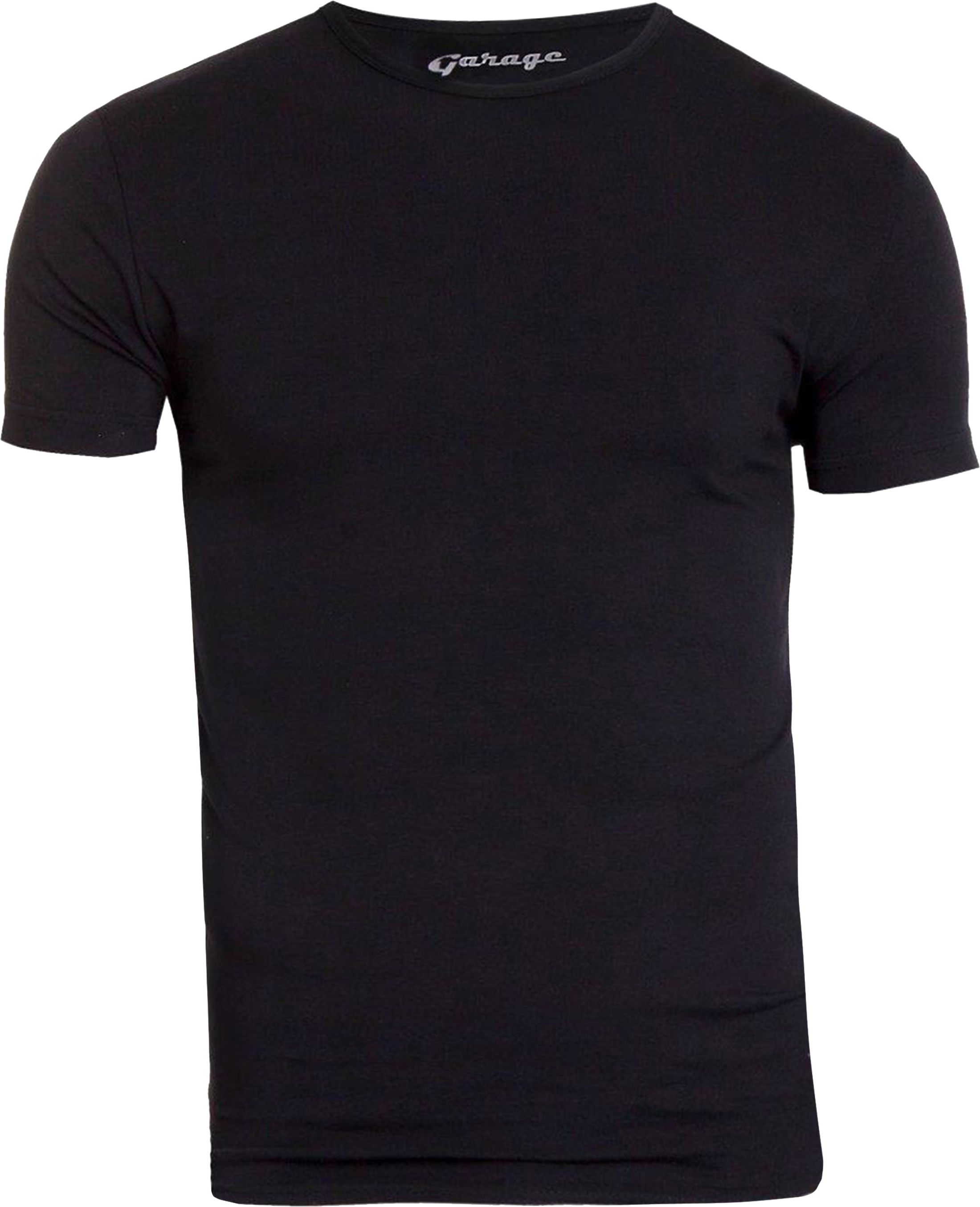 Garage Stretch Basic Black O-Neck foto 0