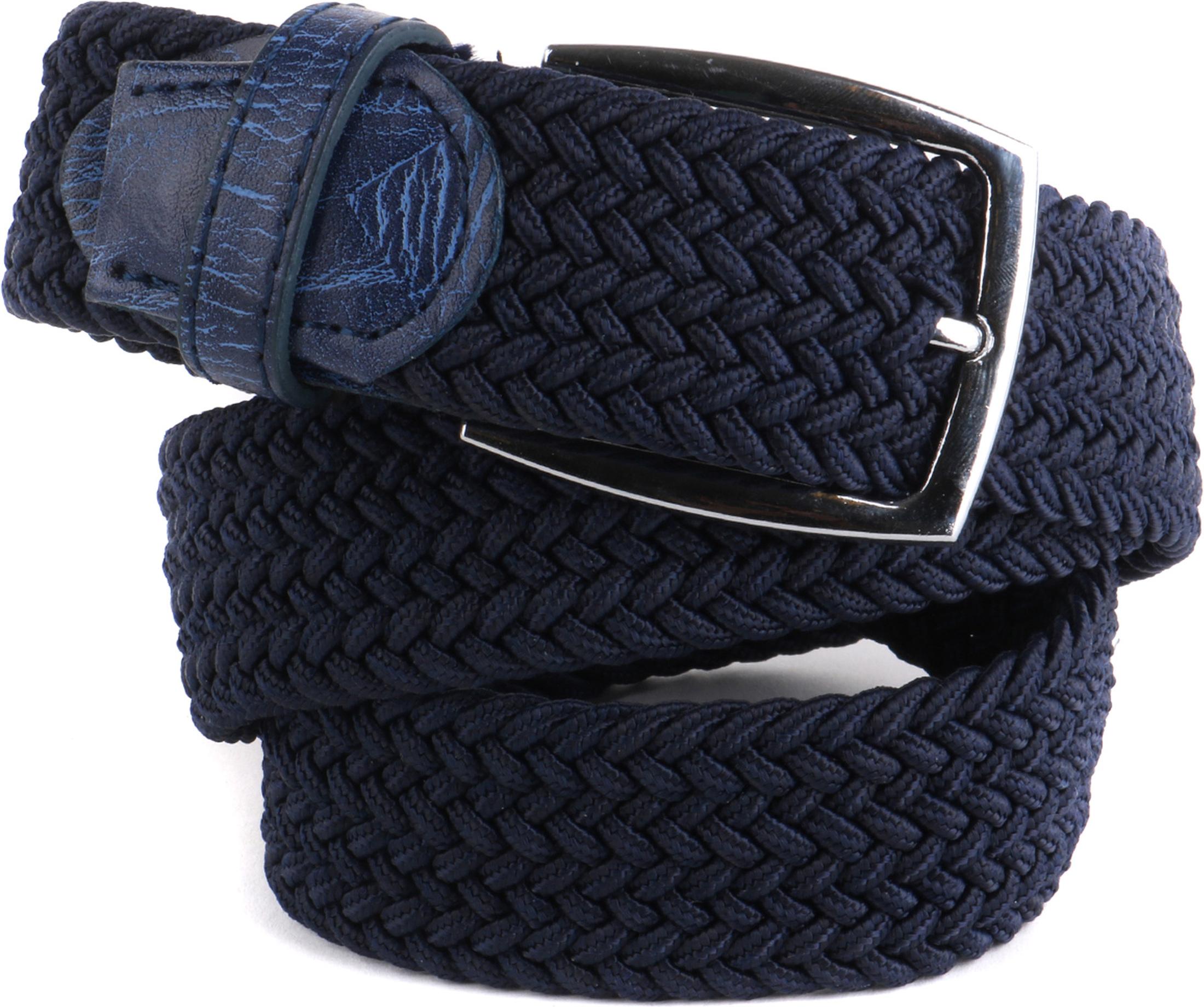 Geflochtene Gürtel Dunkel Blau